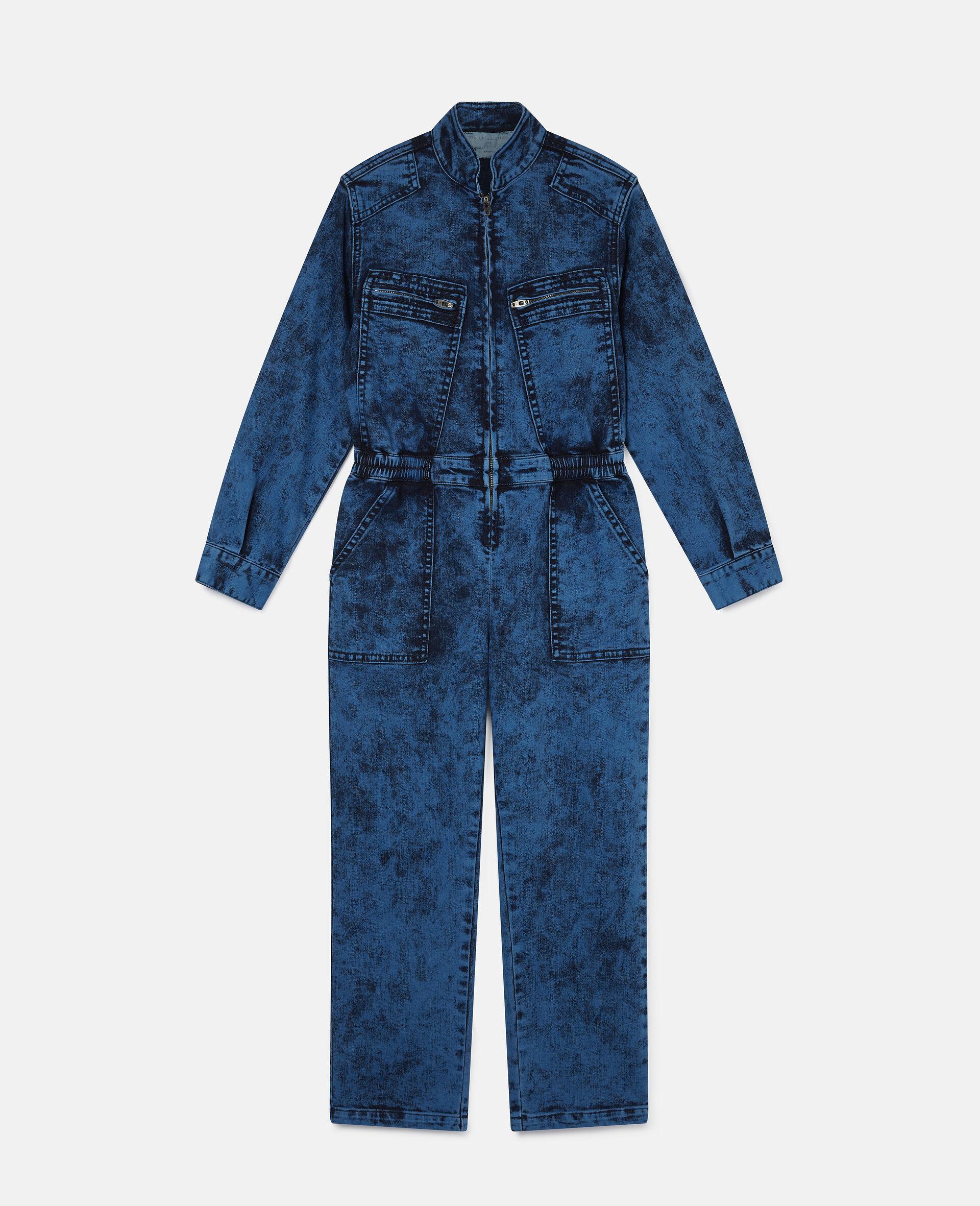 Combinaison en denim-Bleu-large image number 0