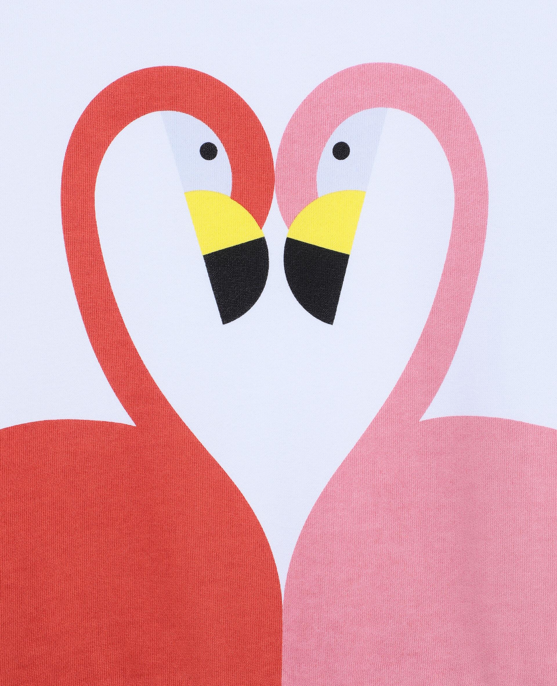 Flamingo Cotton Fleece Sweatshirt -White-large image number 1