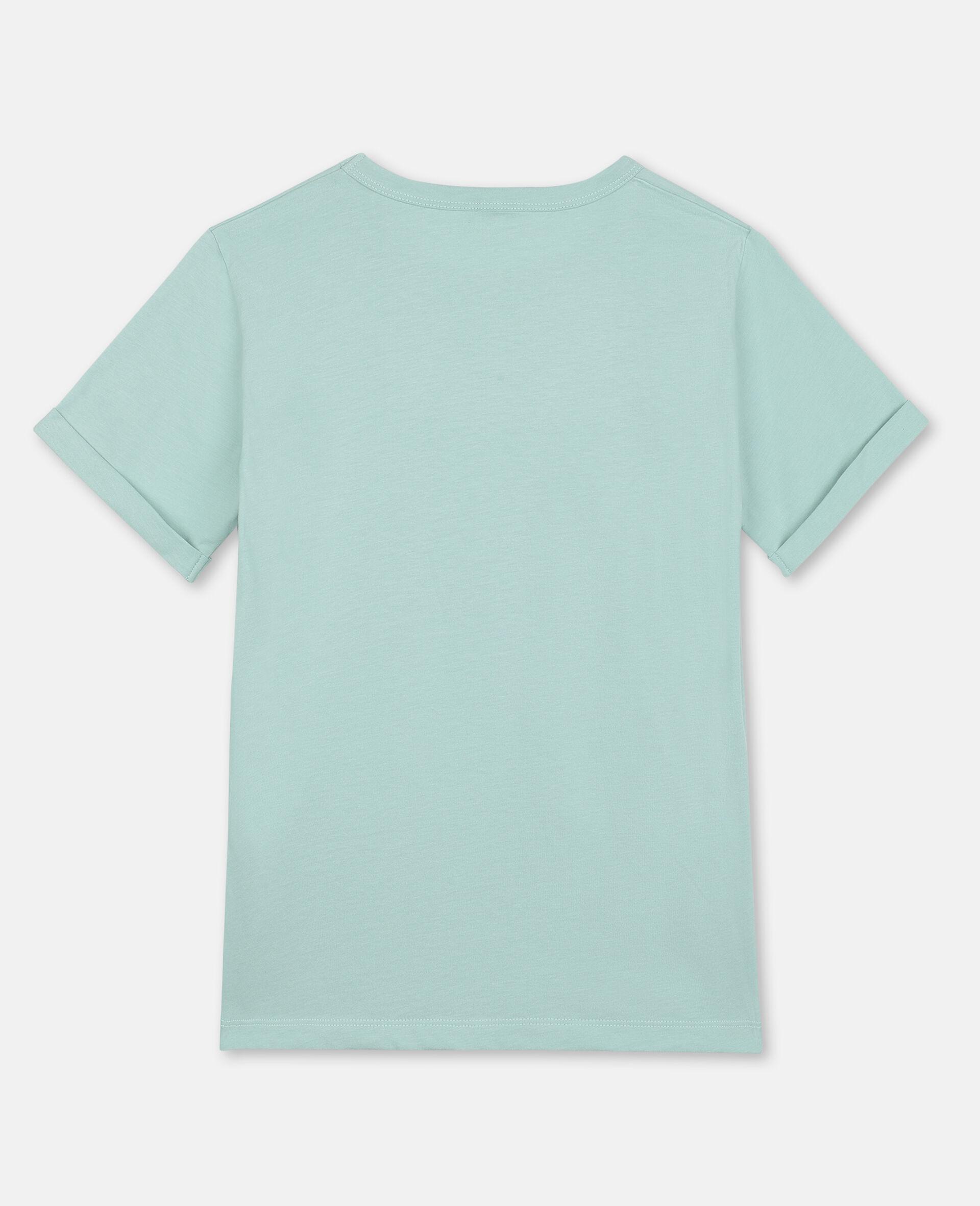 Baumwoll-T-Shirt mit Schmetterling-Print-Grün-large image number 3