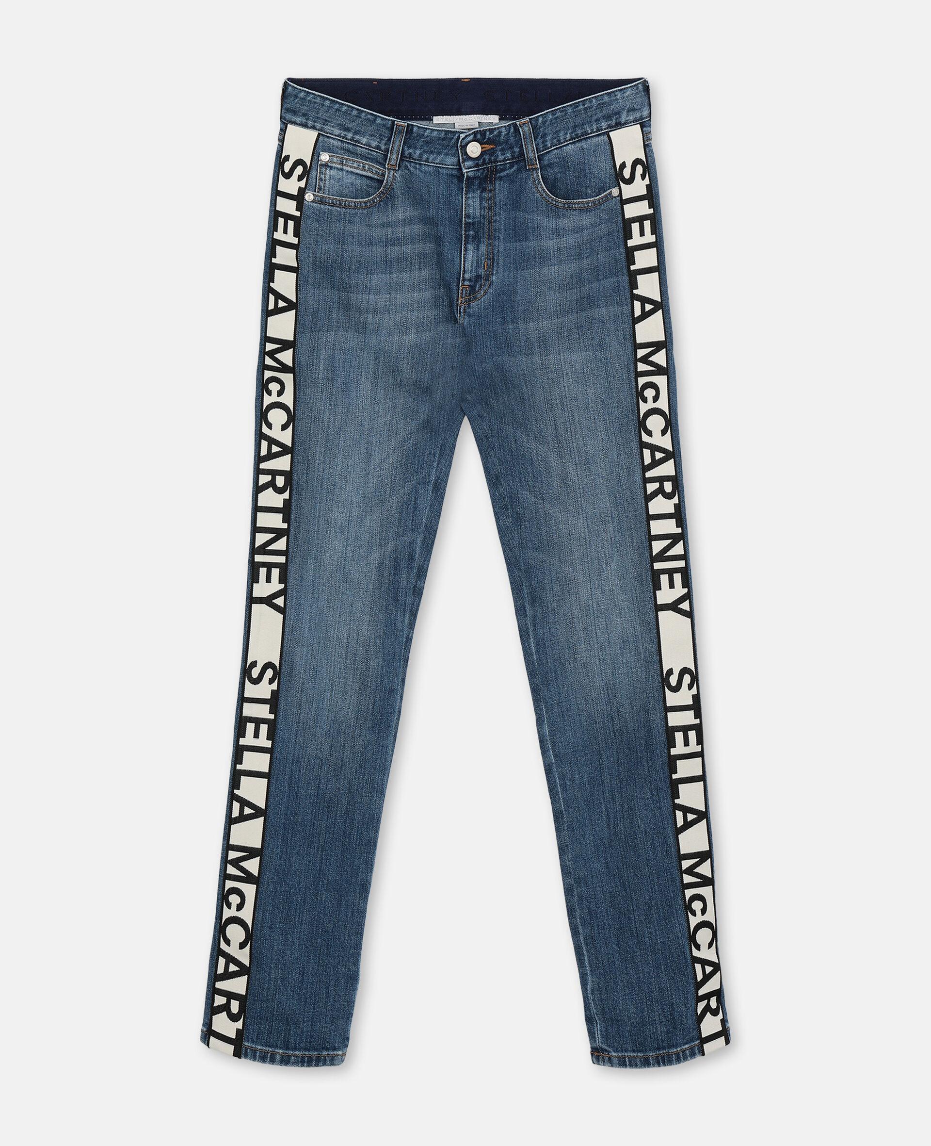 Boyfriend-Jeans in Skinny-Passform-Blau-large image number 0