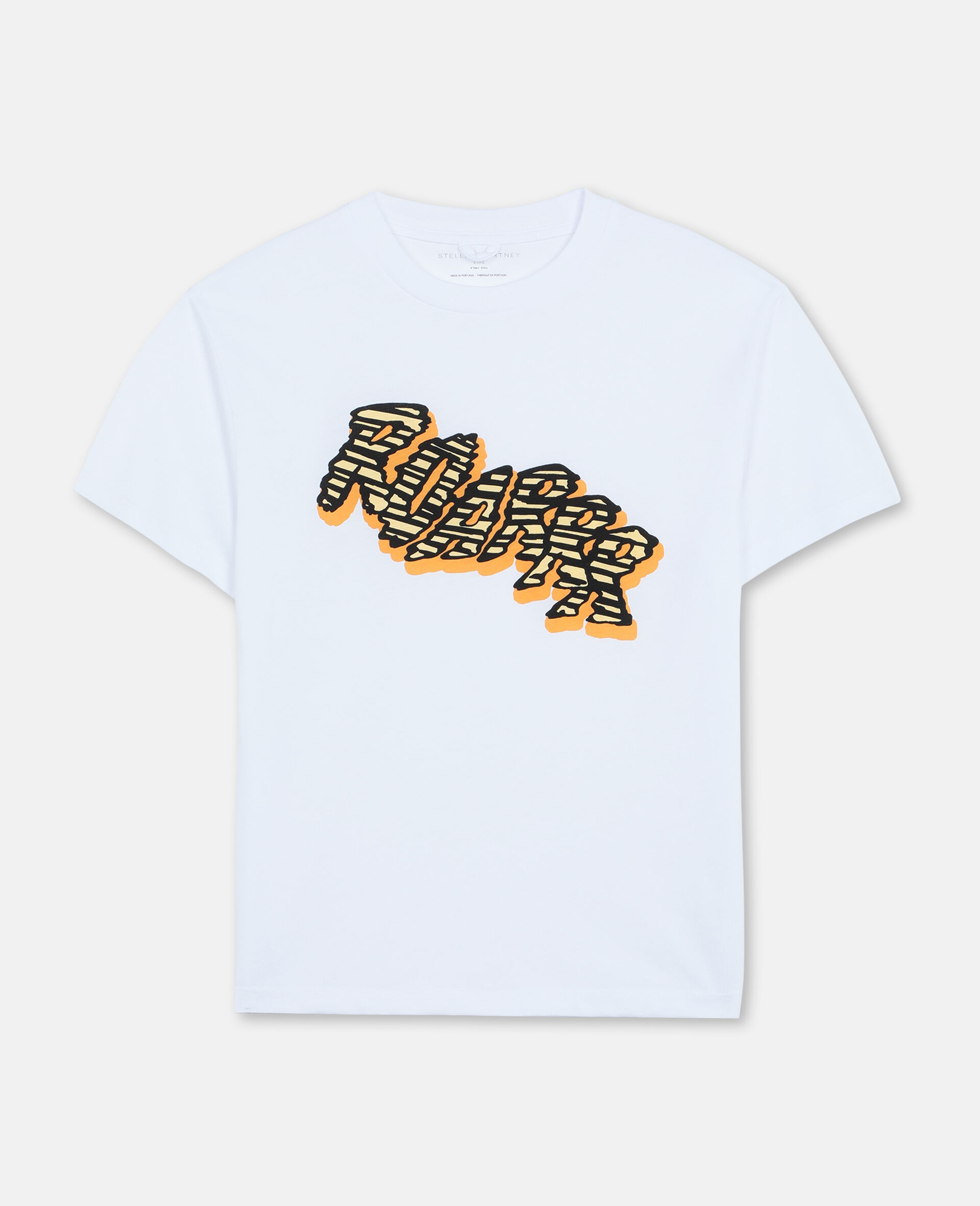 "Oversized-T-Shirt aus Baumwolle mit ""Roarrr""-Print -Weiß-large image number 0"