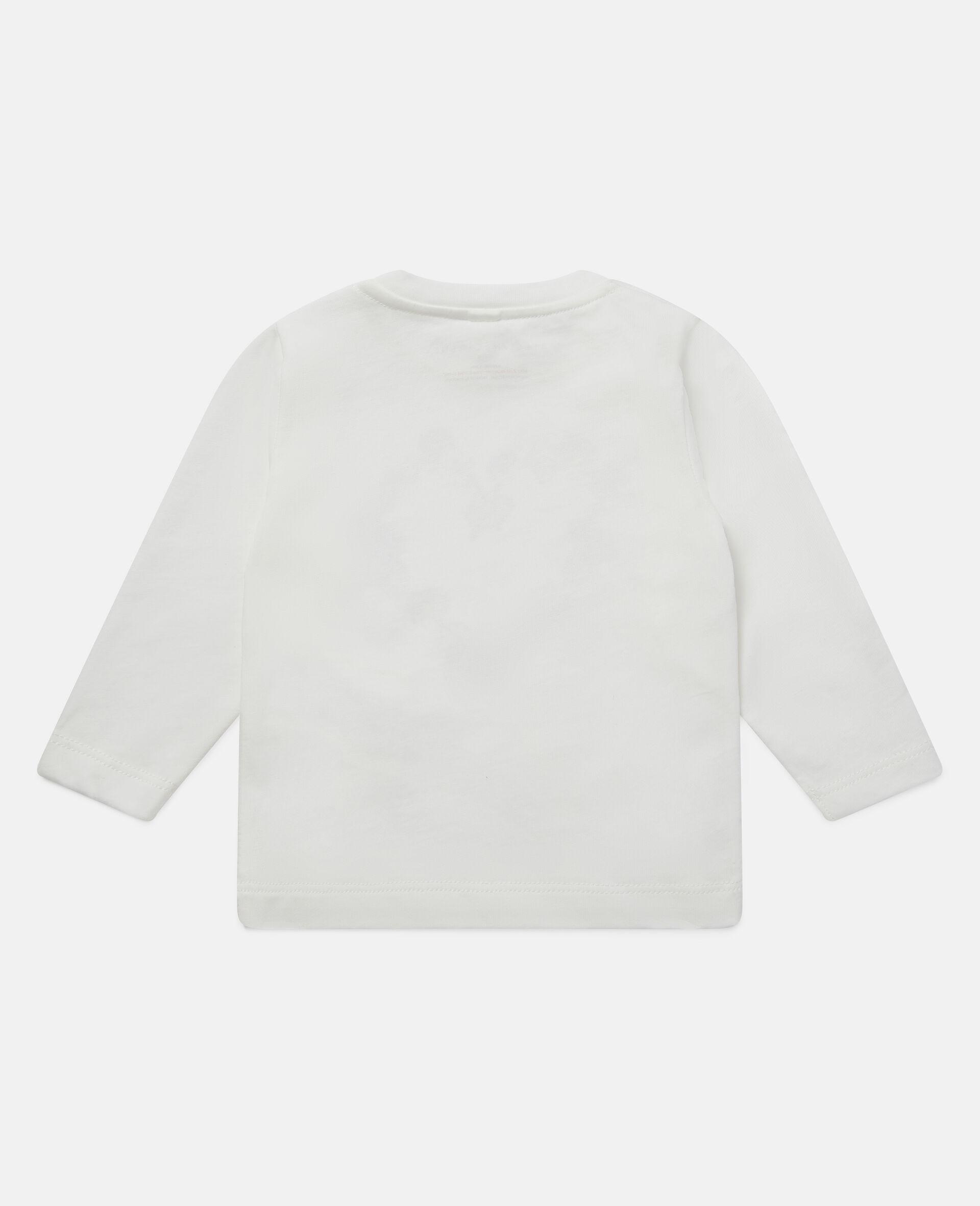 Haut en coton motif cœur en marguerites-Blanc-large image number 3