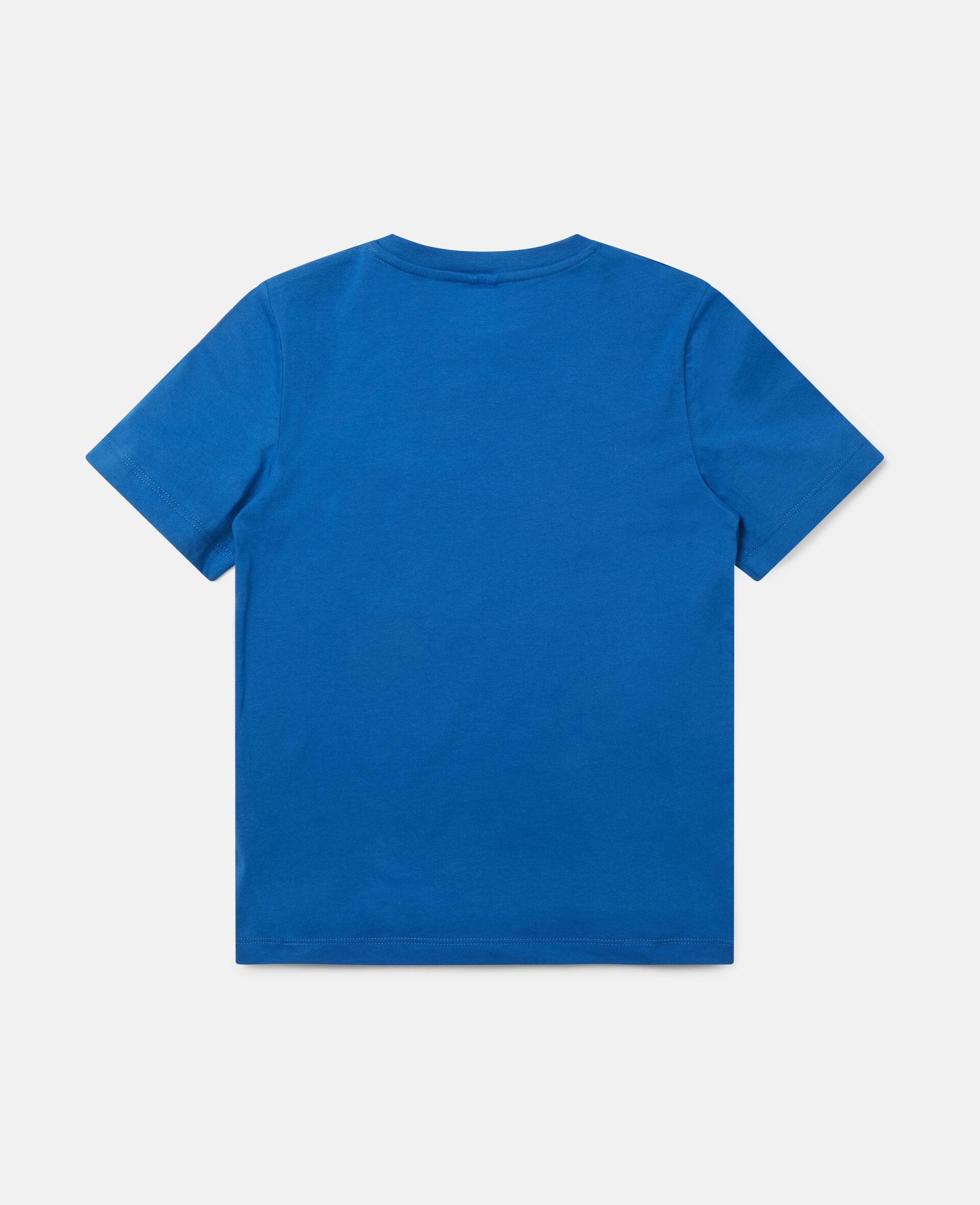 """T-Shirt aus Baumwolle mit """"Spray Gang""""-Print-Blau-large image number 3"""