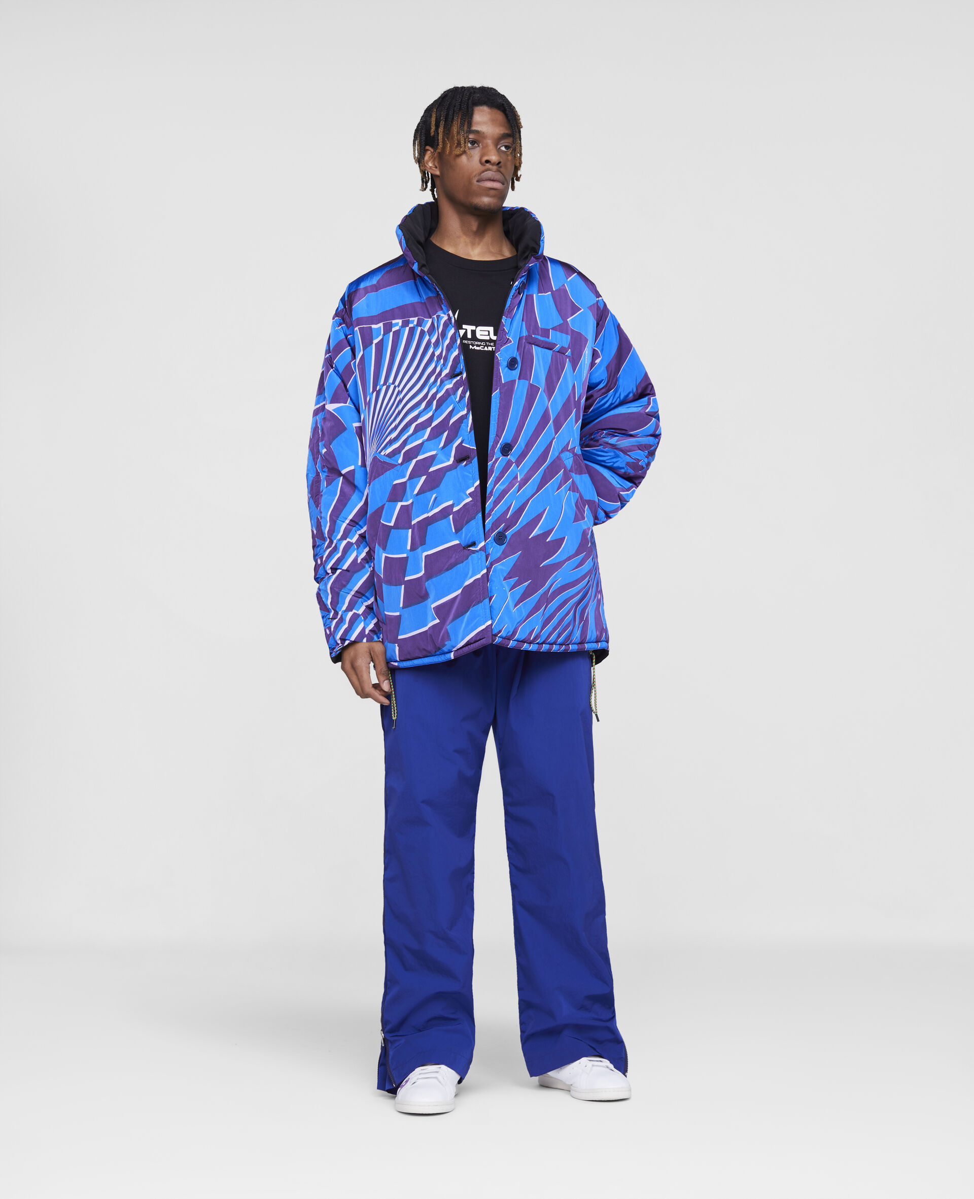 Ed Curtis Psychedelic Reversible Coat -Multicolour-large image number 3