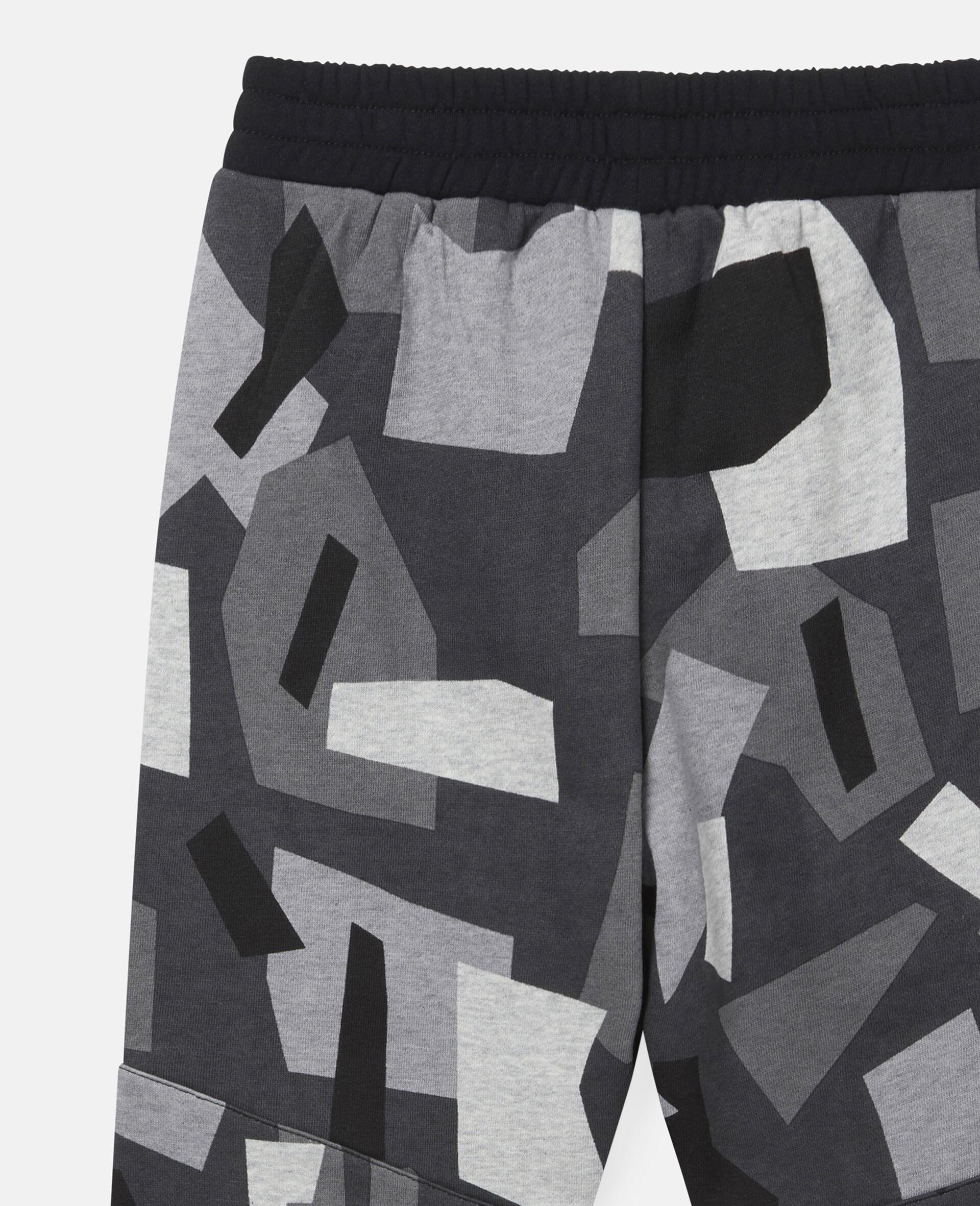 Geometric Camouflage Fleece Joggers-Multicolour-large image number 1