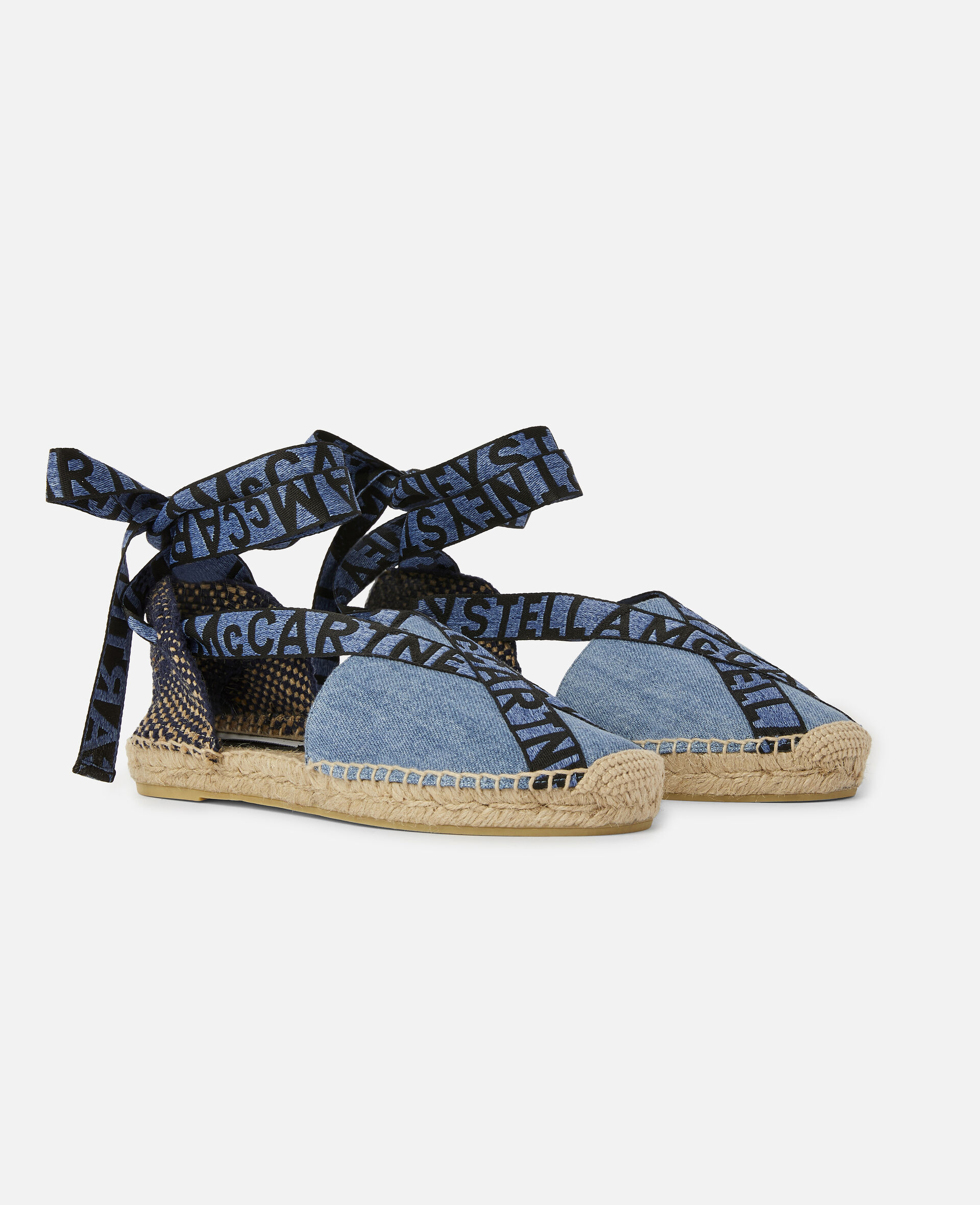Gaia Organic Denim Espadrilles-Blue-large image number 1