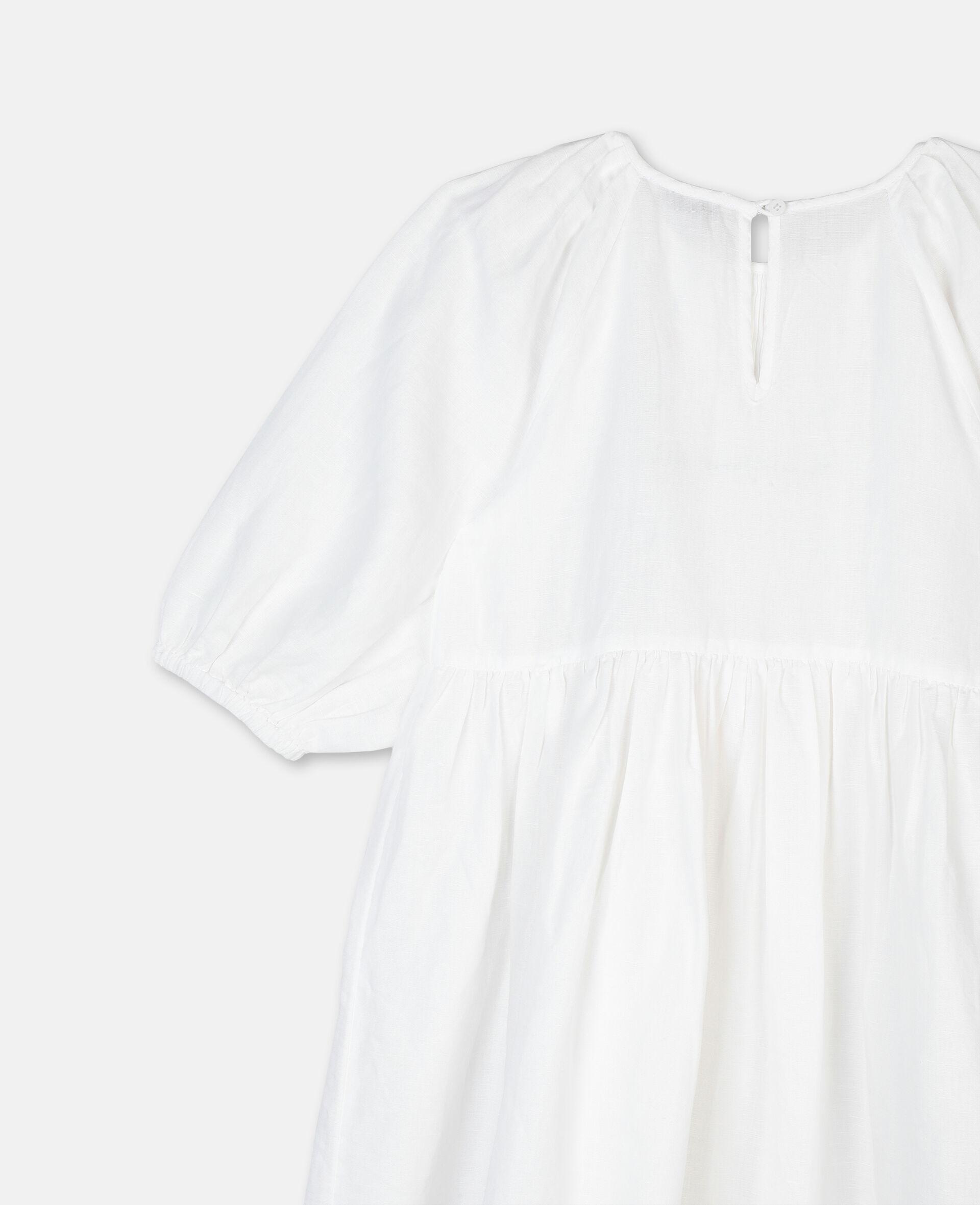 Robe à détail smocké-Blanc-large image number 2
