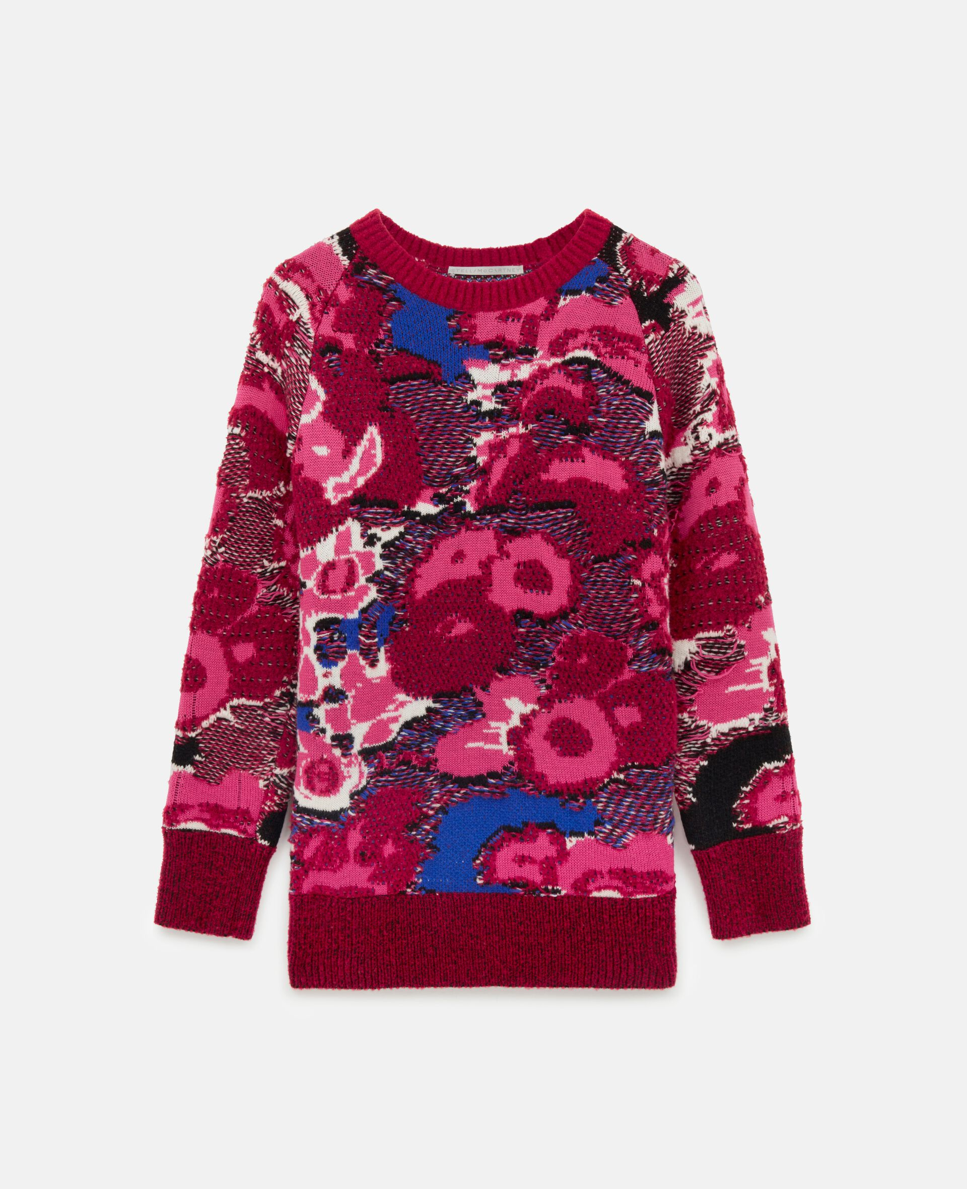 Floral Jacquard Sweater-Multicoloured-large image number 0