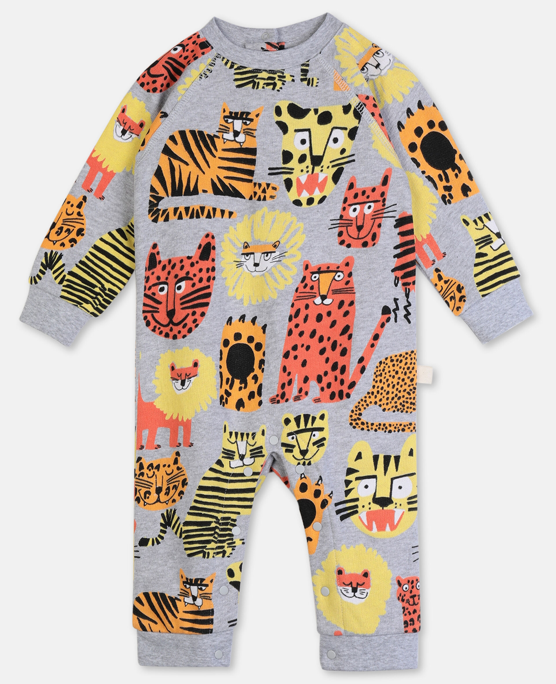 Wild Cats Cotton Jumpsuit-Multicolour-large
