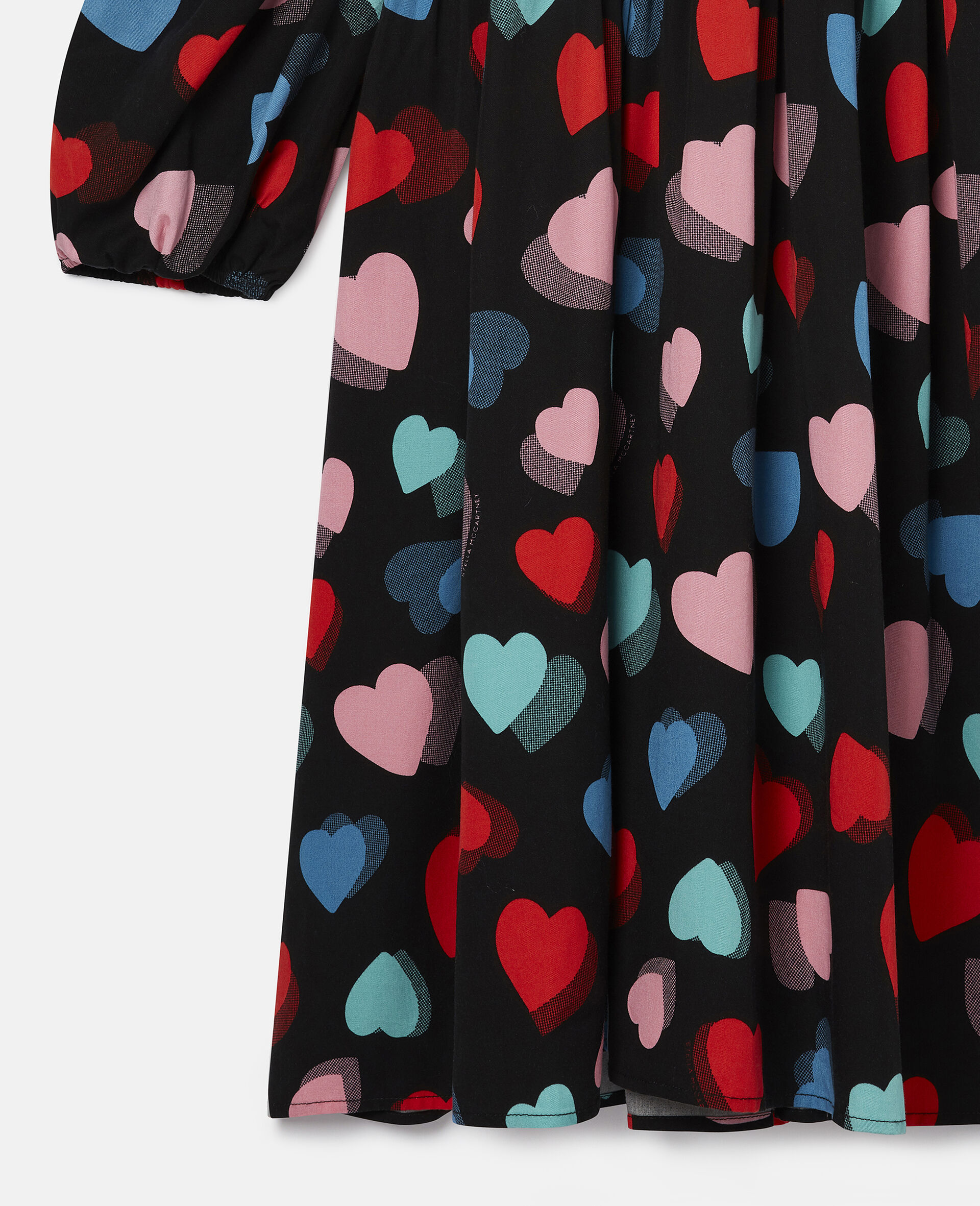 Hearts Tencel Twill Dress-Multicolour-large image number 1