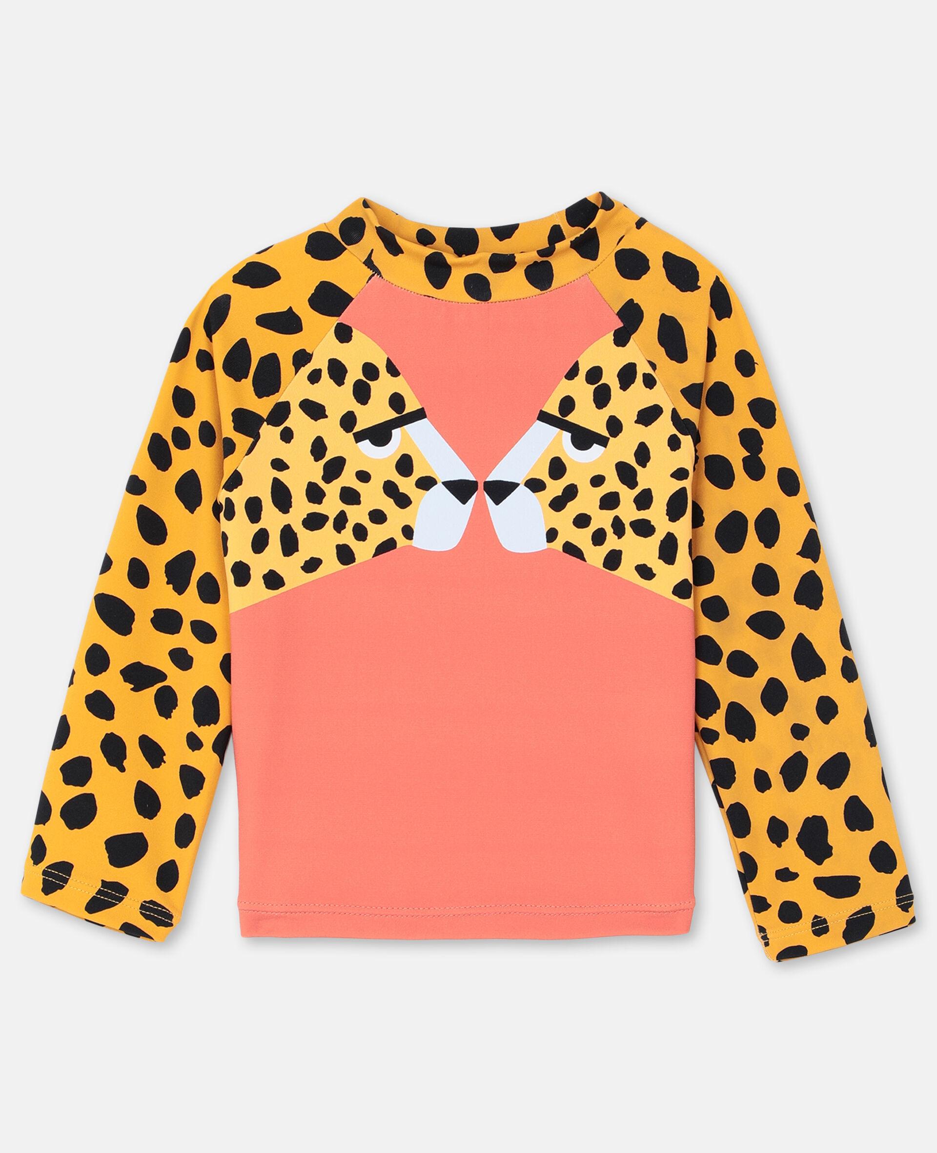 Cheetah Swim T-shirt -Red-large image number 0