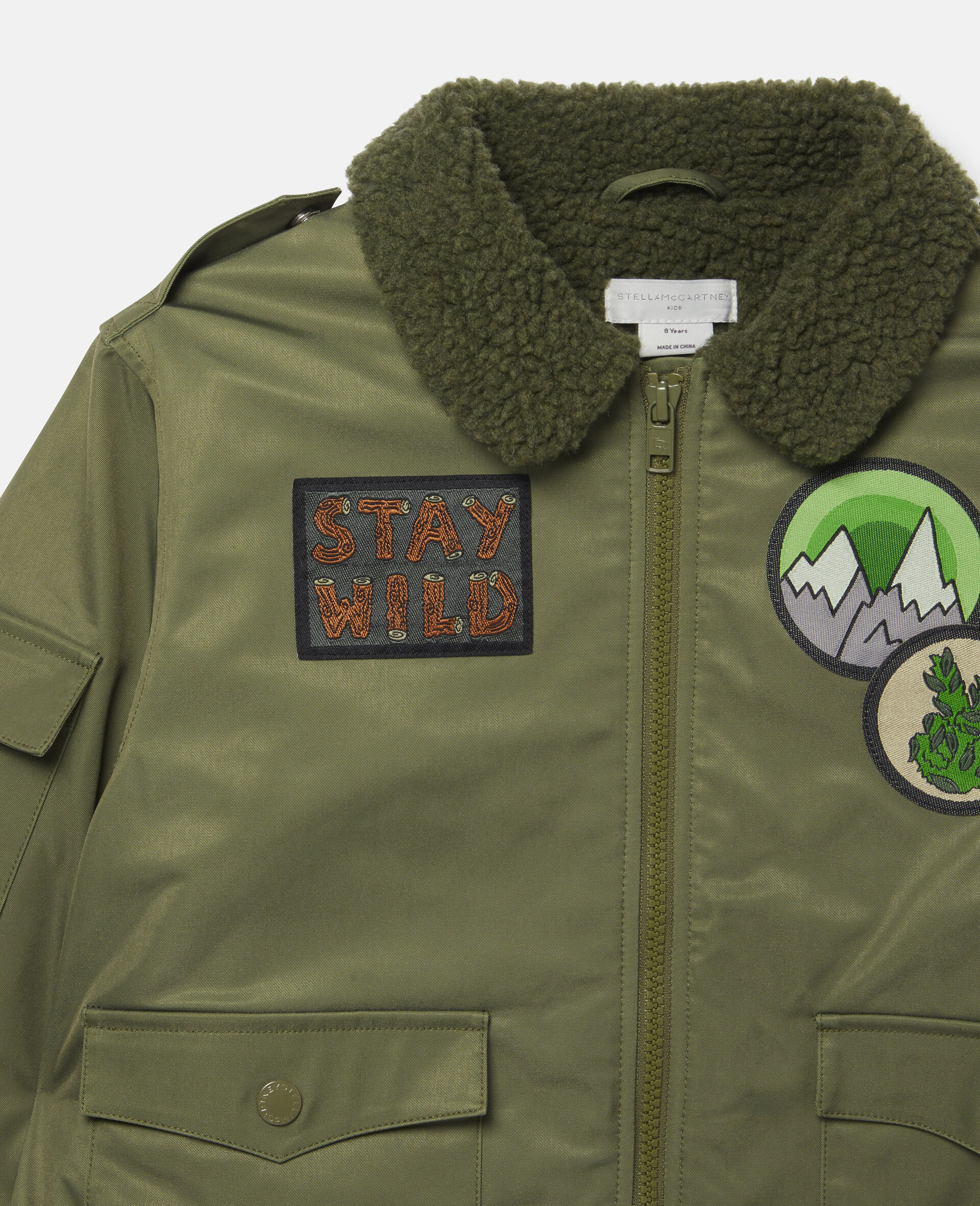 Mountain Badges Jacket-Green-large image number 1