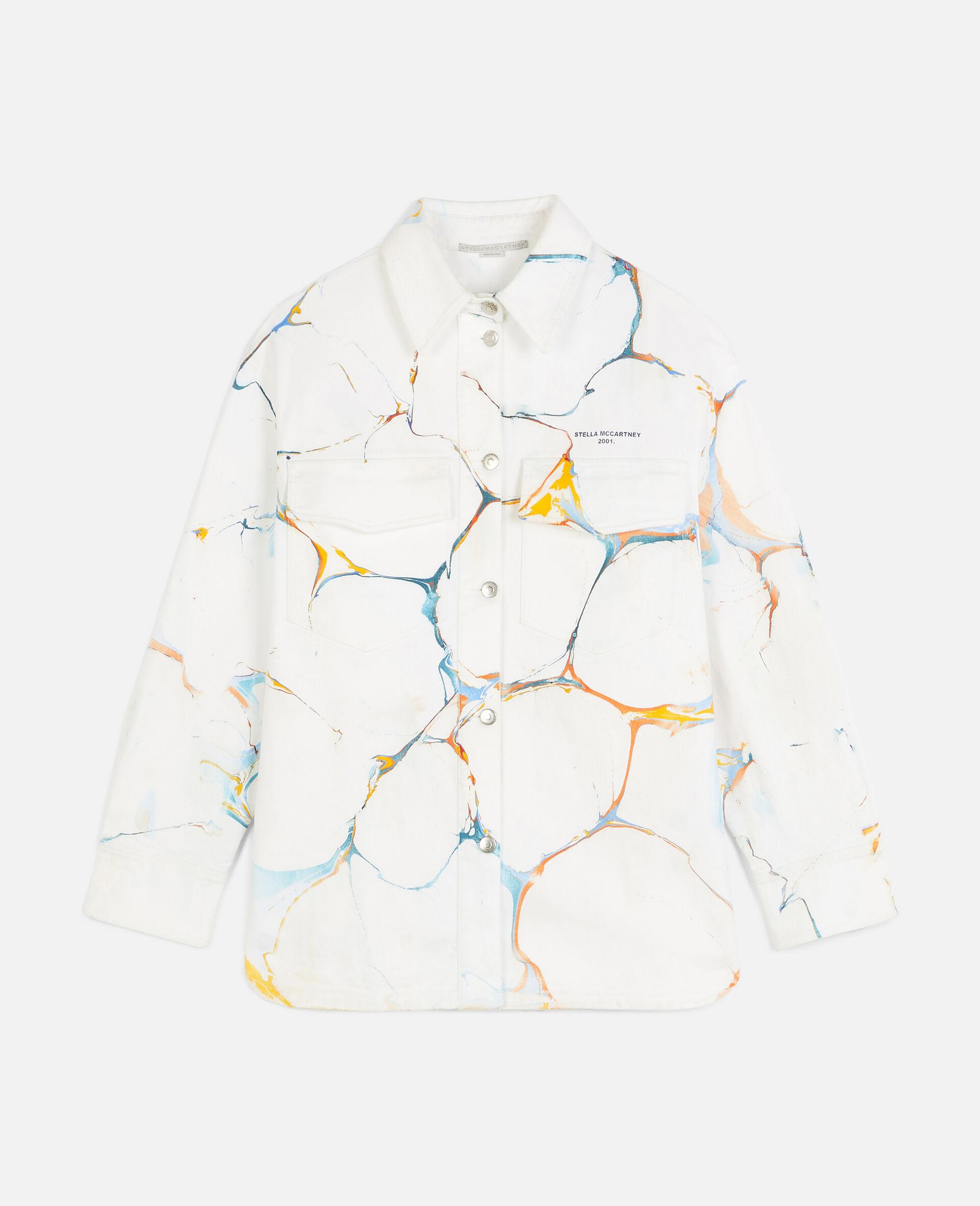 Denim Shirt Jacket -Multicolour-large image number 0