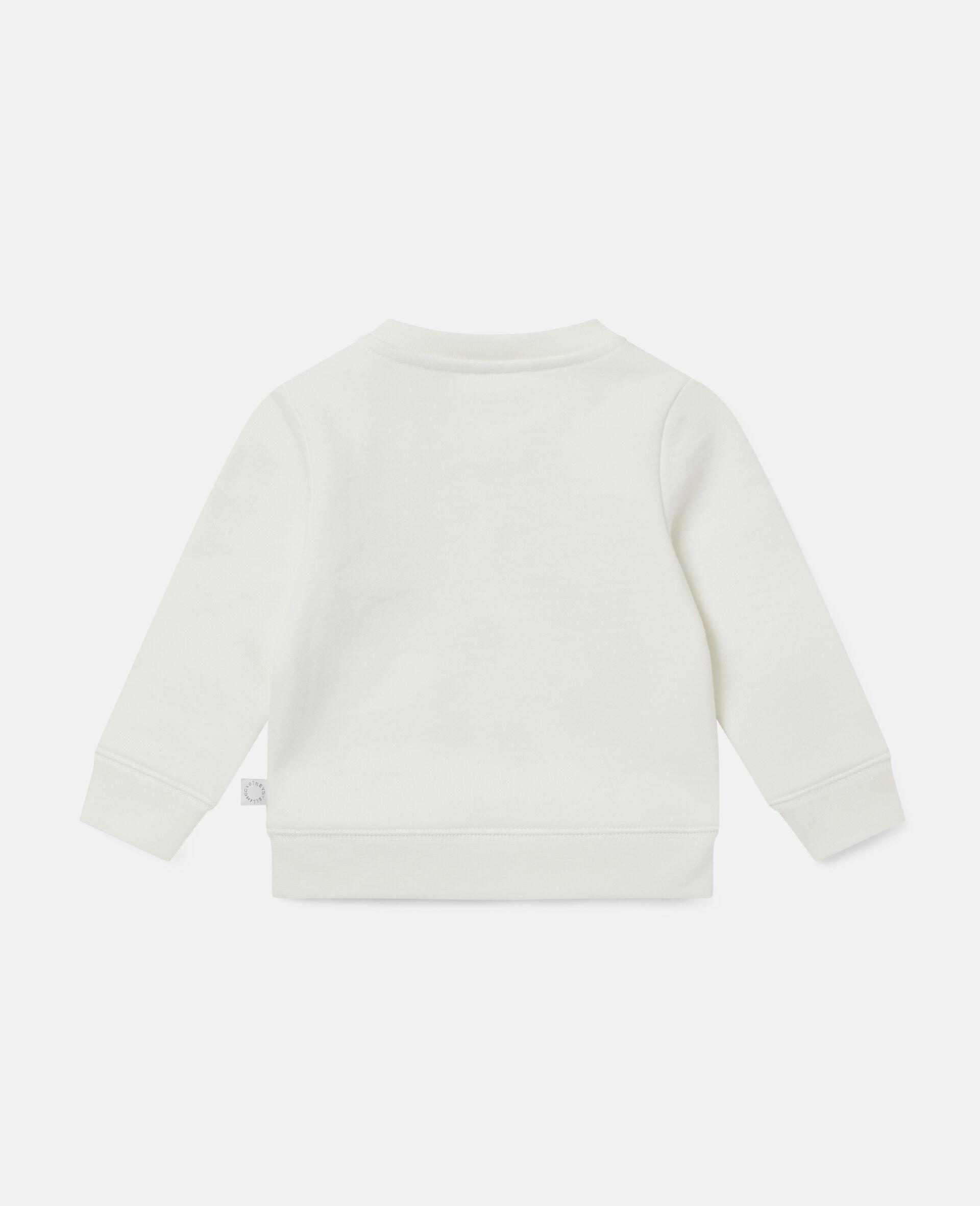 Dalmatian Sports Fleece Sweatshirt-White-large image number 3