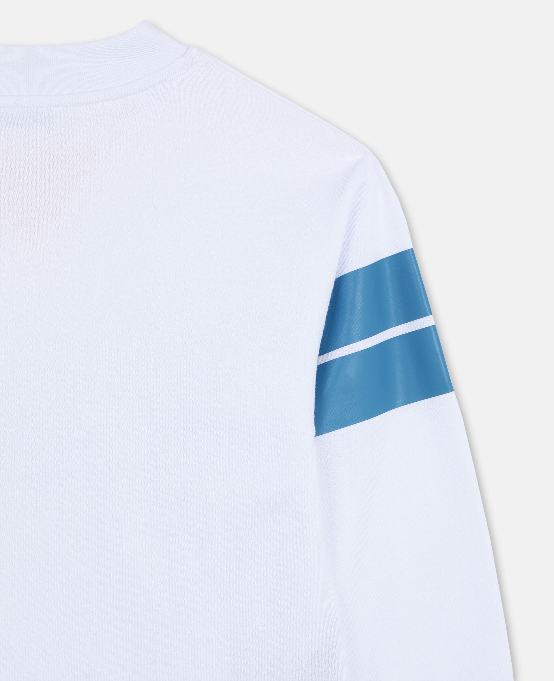 Logo Oversize Cotton Sport Sweatshirt -White-large image number 2