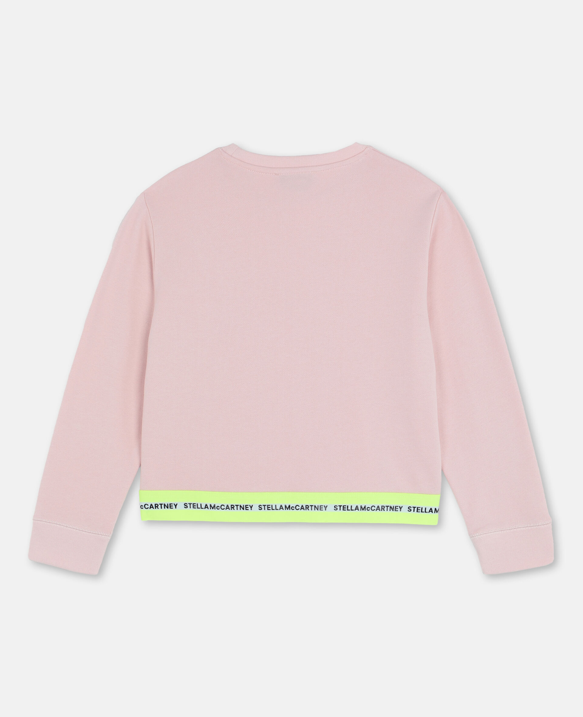 Logo Cotton Fleece Active Sweatshirt-Pink-large image number 3