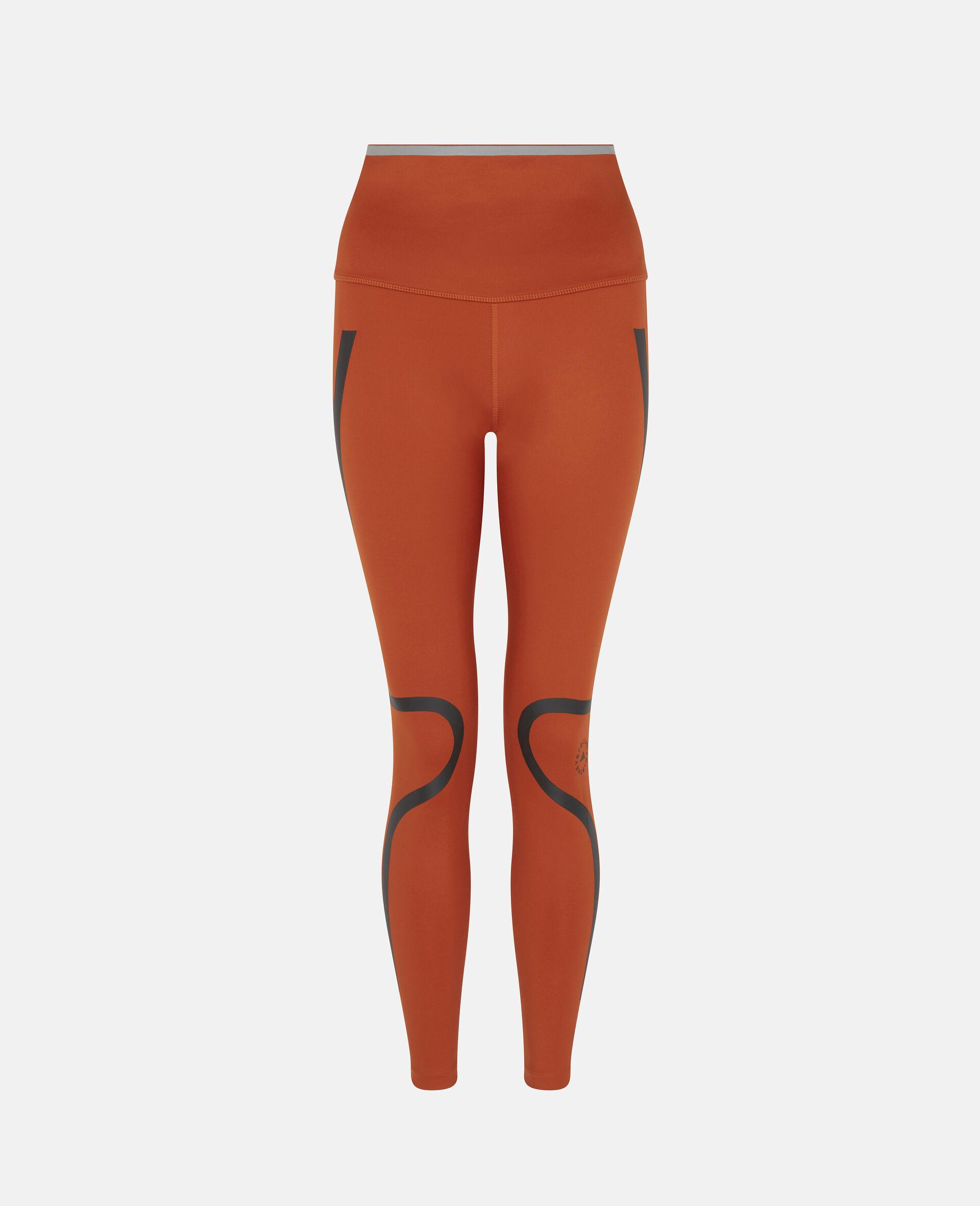 Orange TruePace Running Tights-Orange-large image number 0