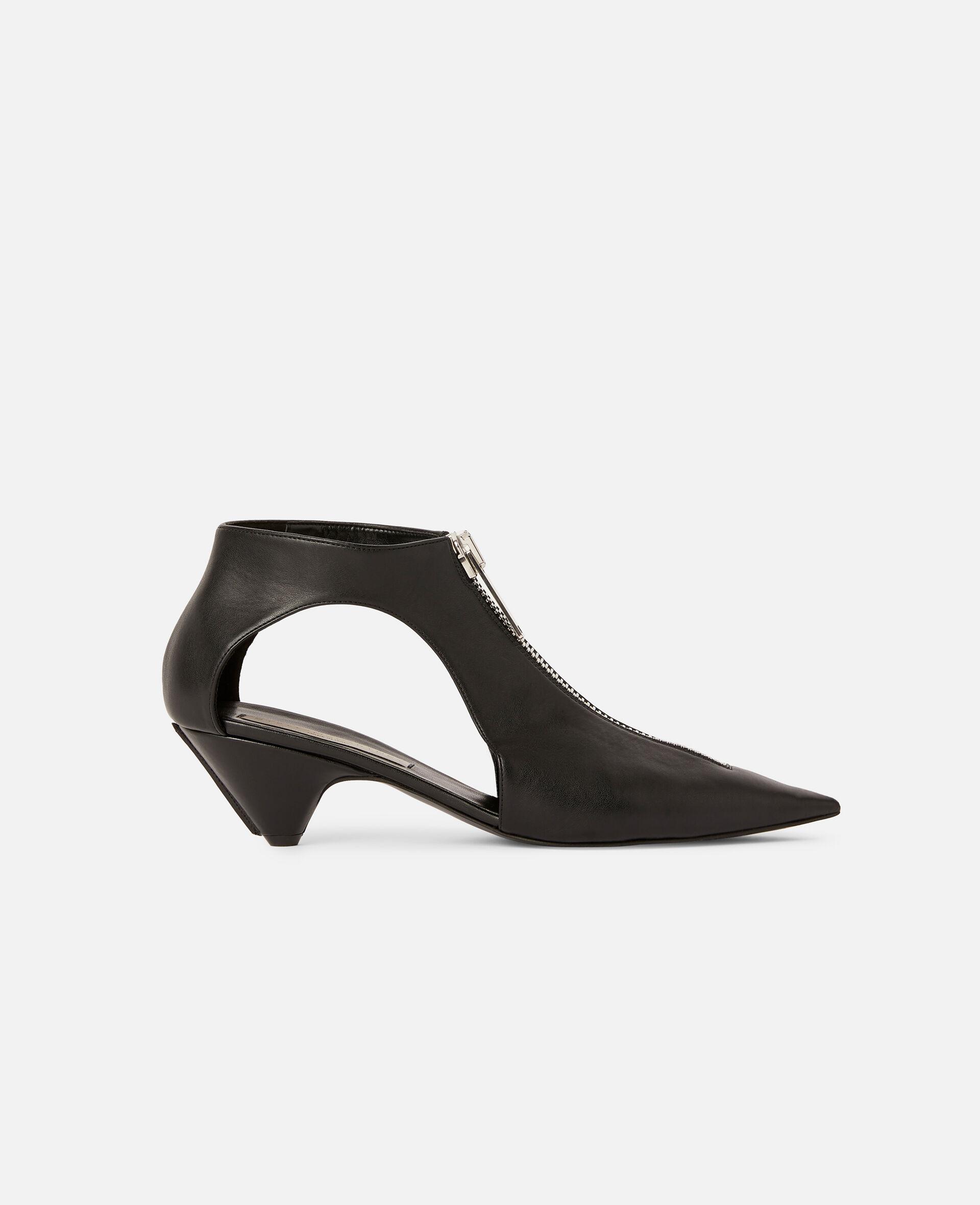 Zipit Low Heel Boots-Black-large image number 0
