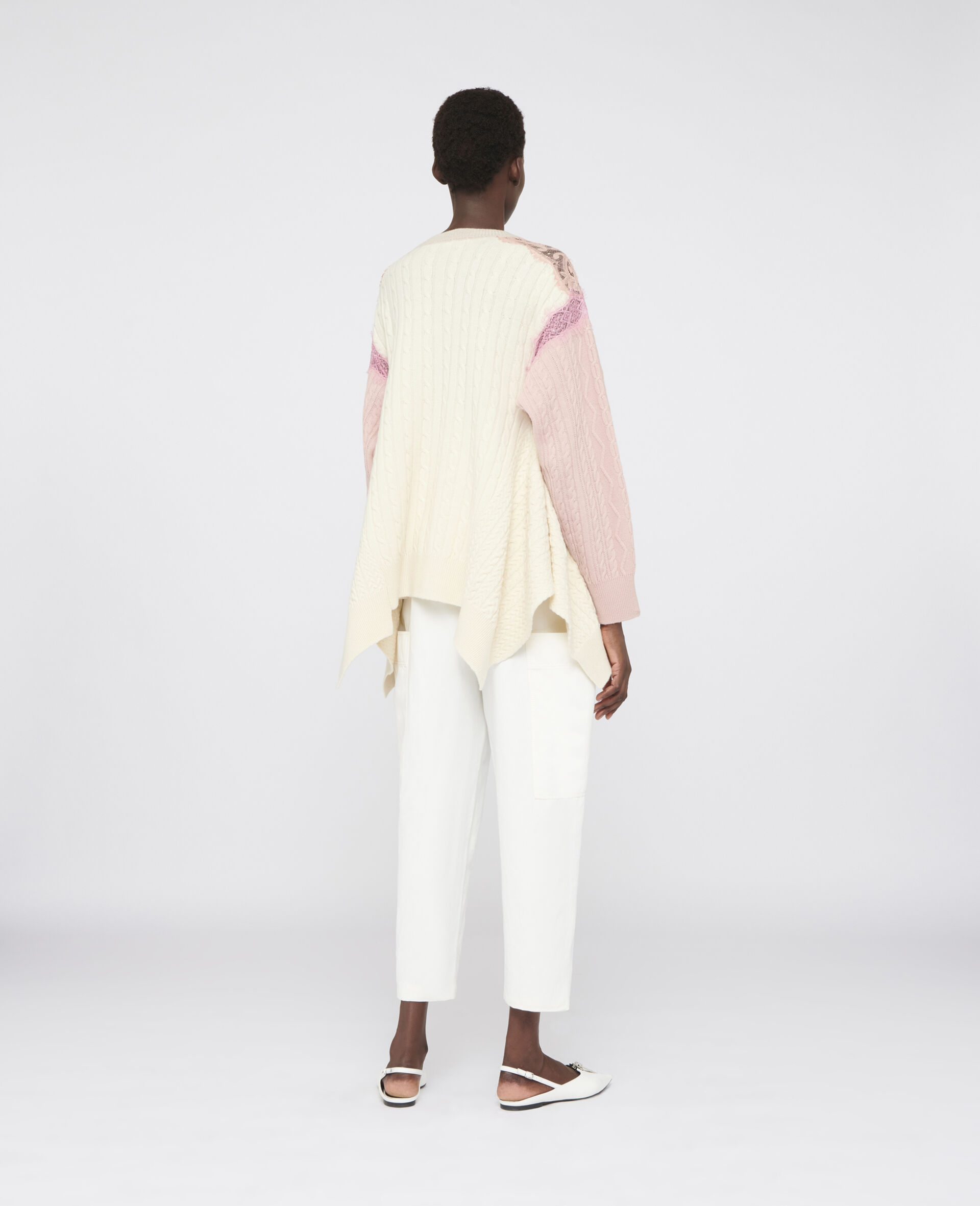 Oversized Wool Sweater -Beige-large image number 2