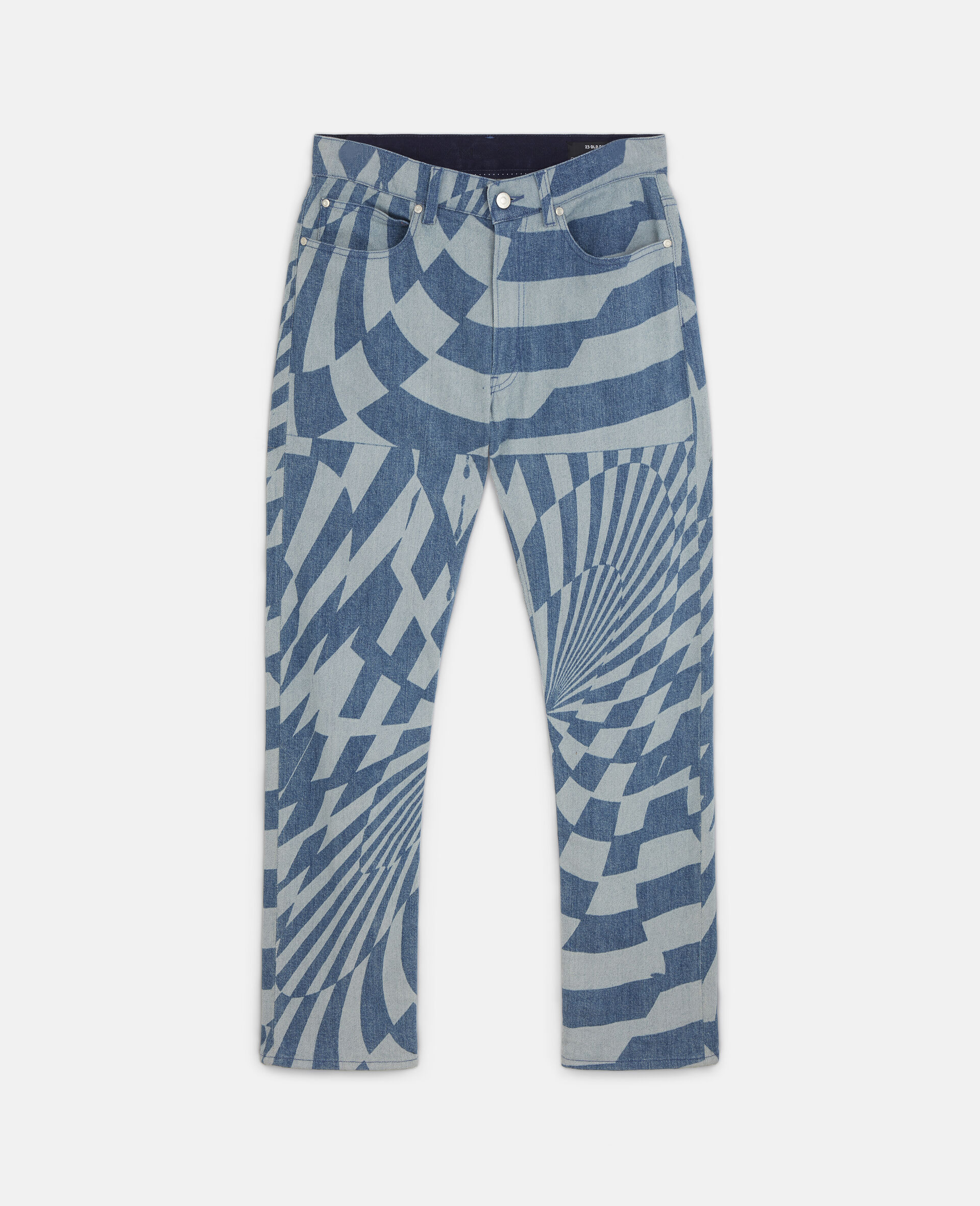 Ed Curtis Psychedelic Denim Trousers-Blue-large image number 0