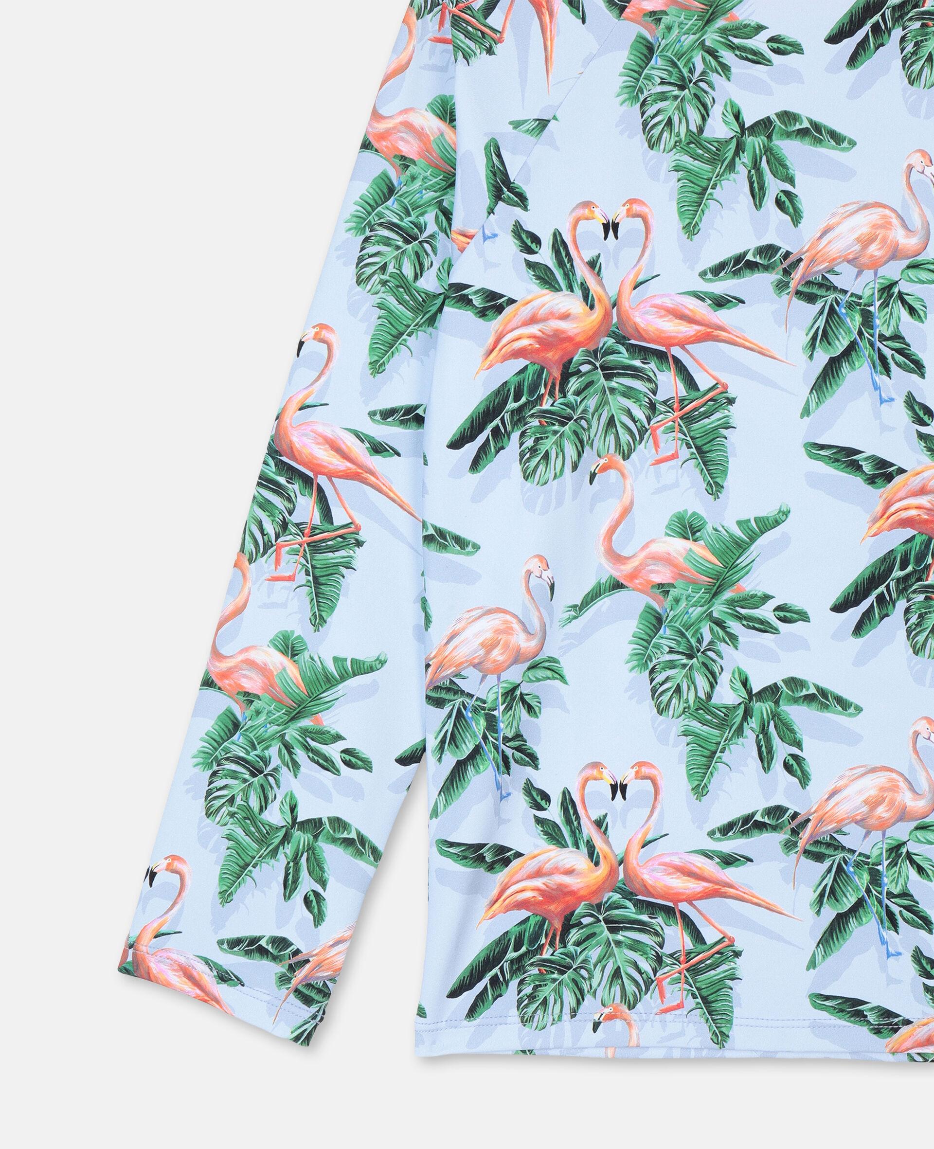 Painty Flamingo游泳T恤 -绿色-large image number 1