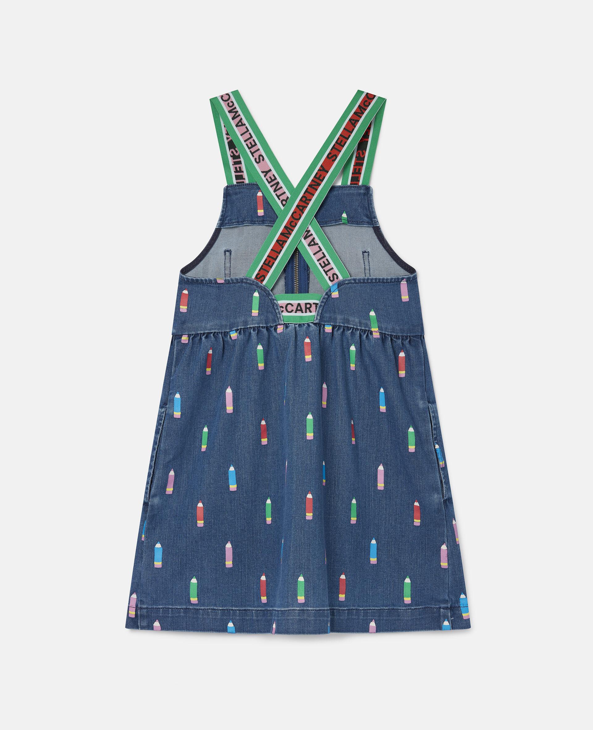 Pencils Denim Dress -Blue-large image number 3