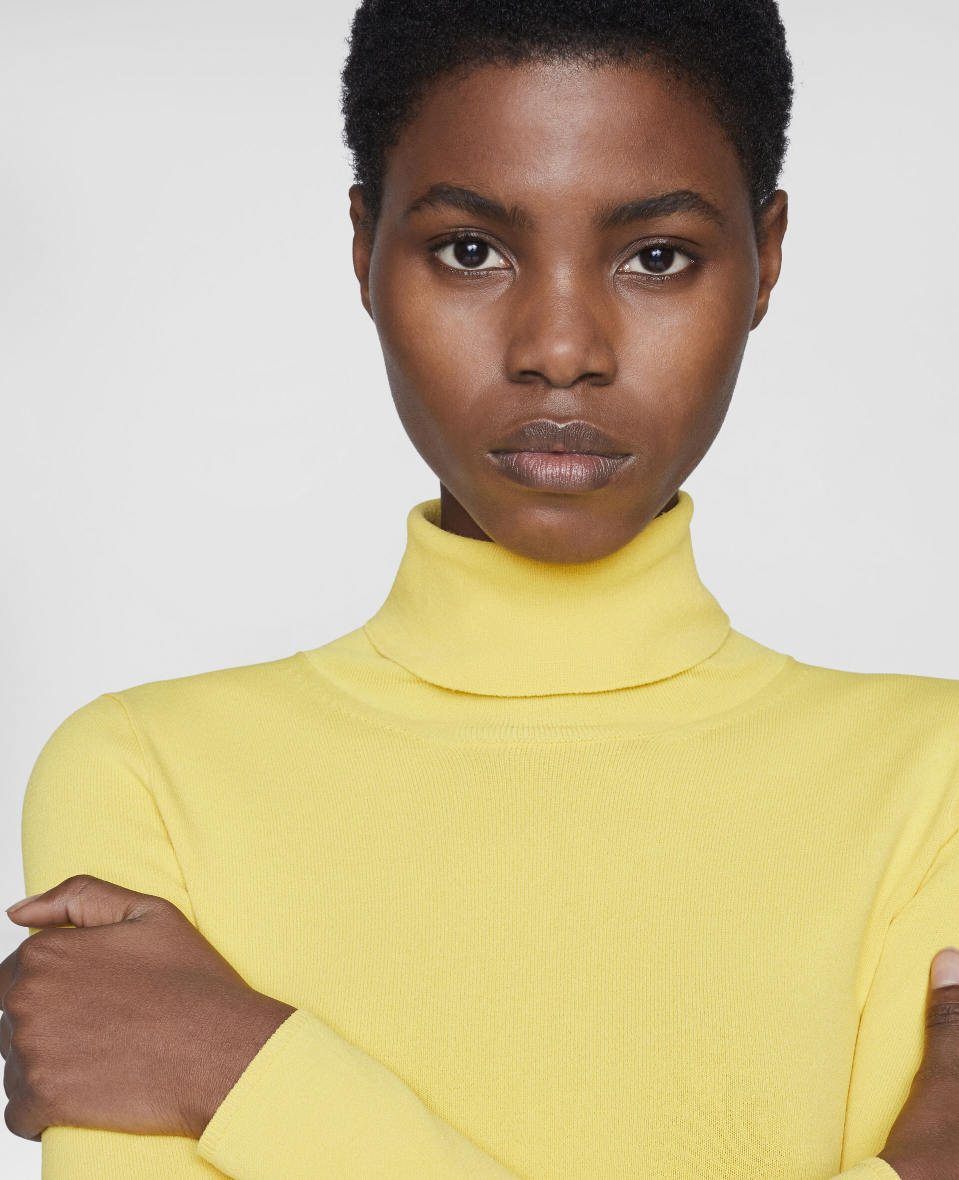 Compact Knit Top-Yellow-large image number 3