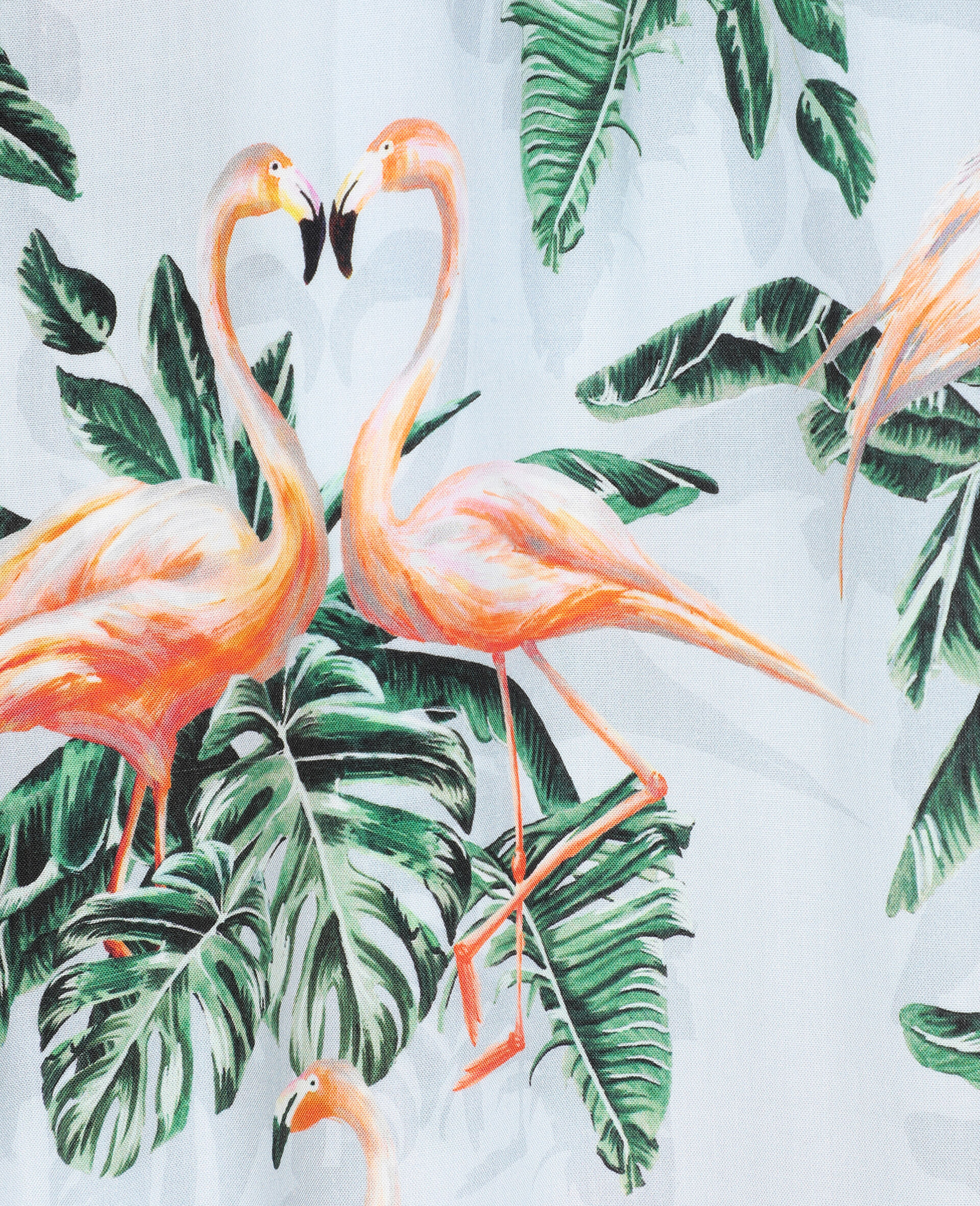 Painty Flamingo Viscose Jumpsuit-Green-large image number 1