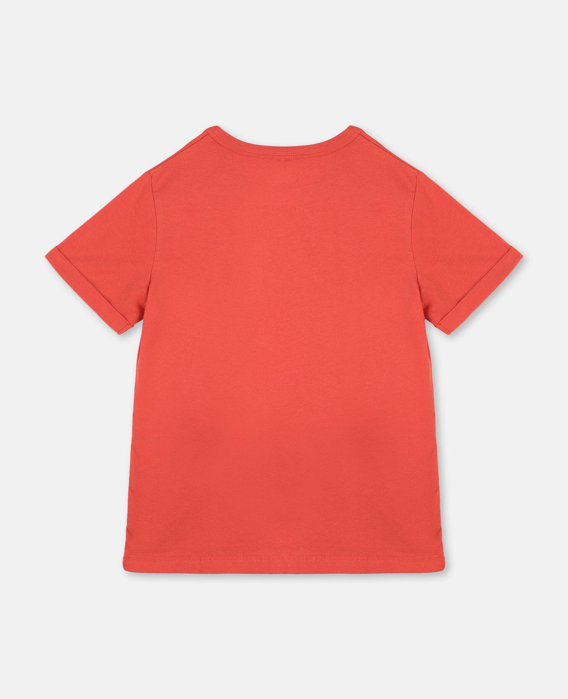Baumwoll-T-Shirt mit Logo-Rot-large image number 3