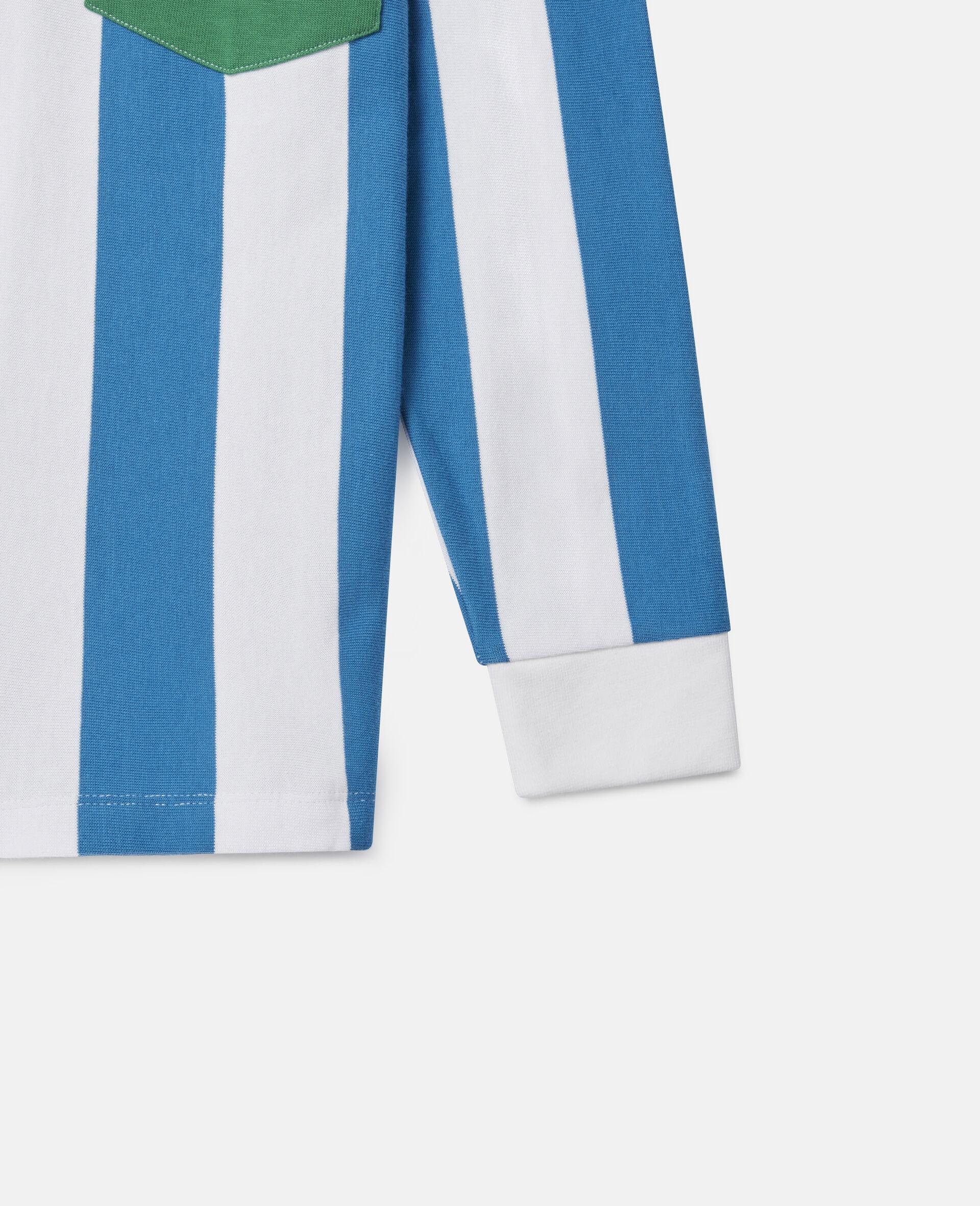 Colourblock Striped Oversized Shirt-Multicolour-large image number 0
