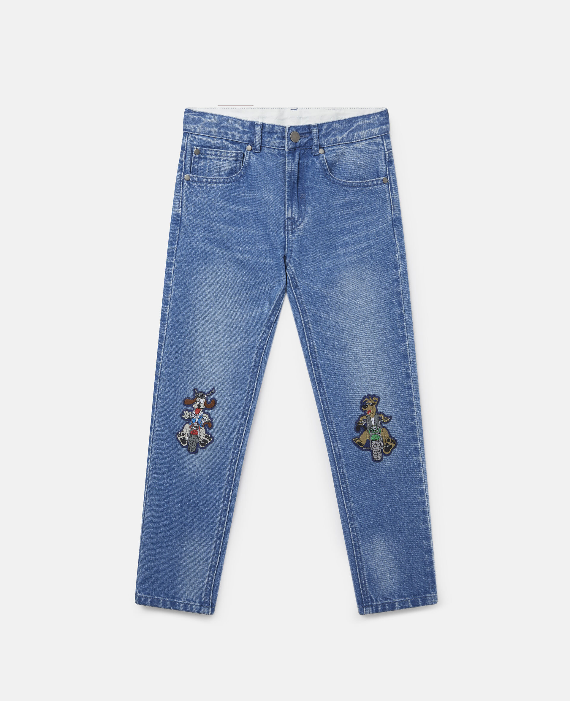 Doggies Badges Denim Trousers-Blue-large image number 0