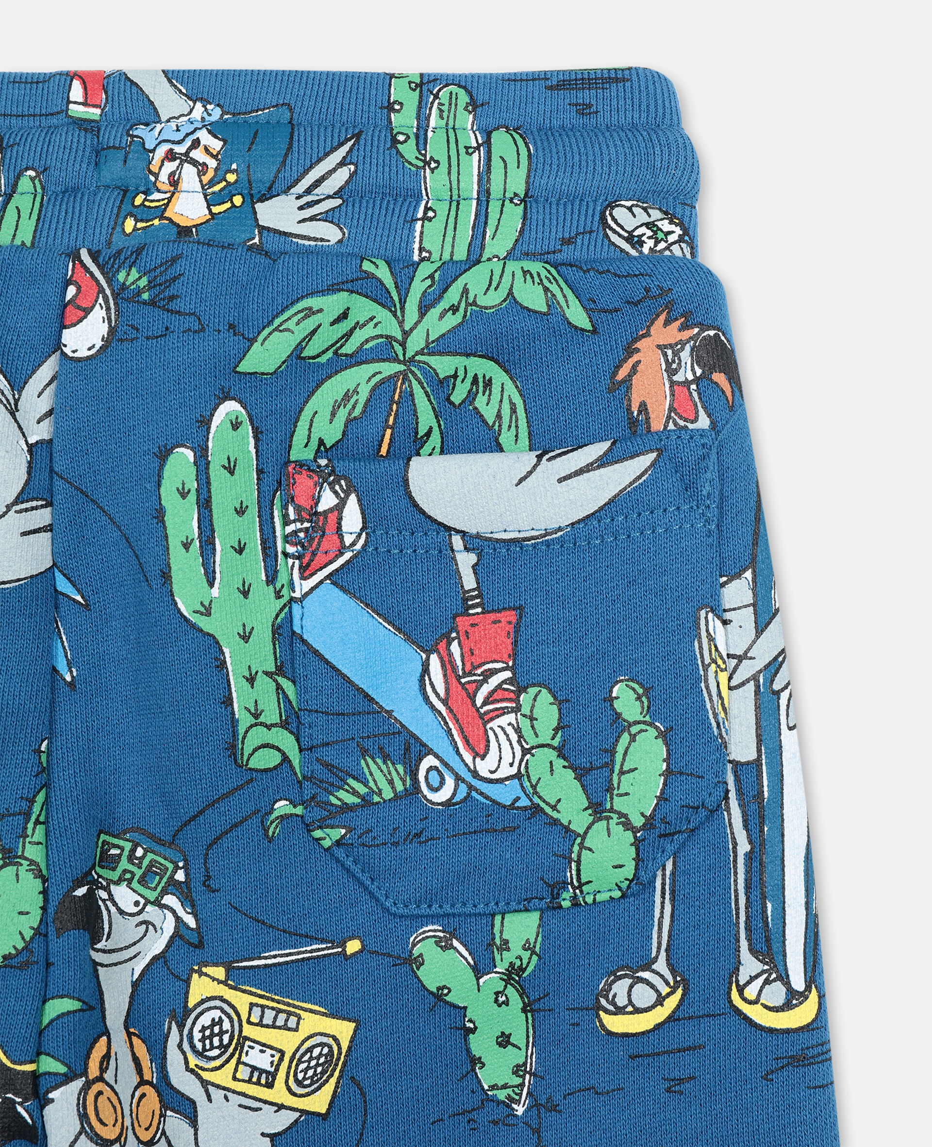 Flamingo Land Cotton Joggers-Blue-large image number 2