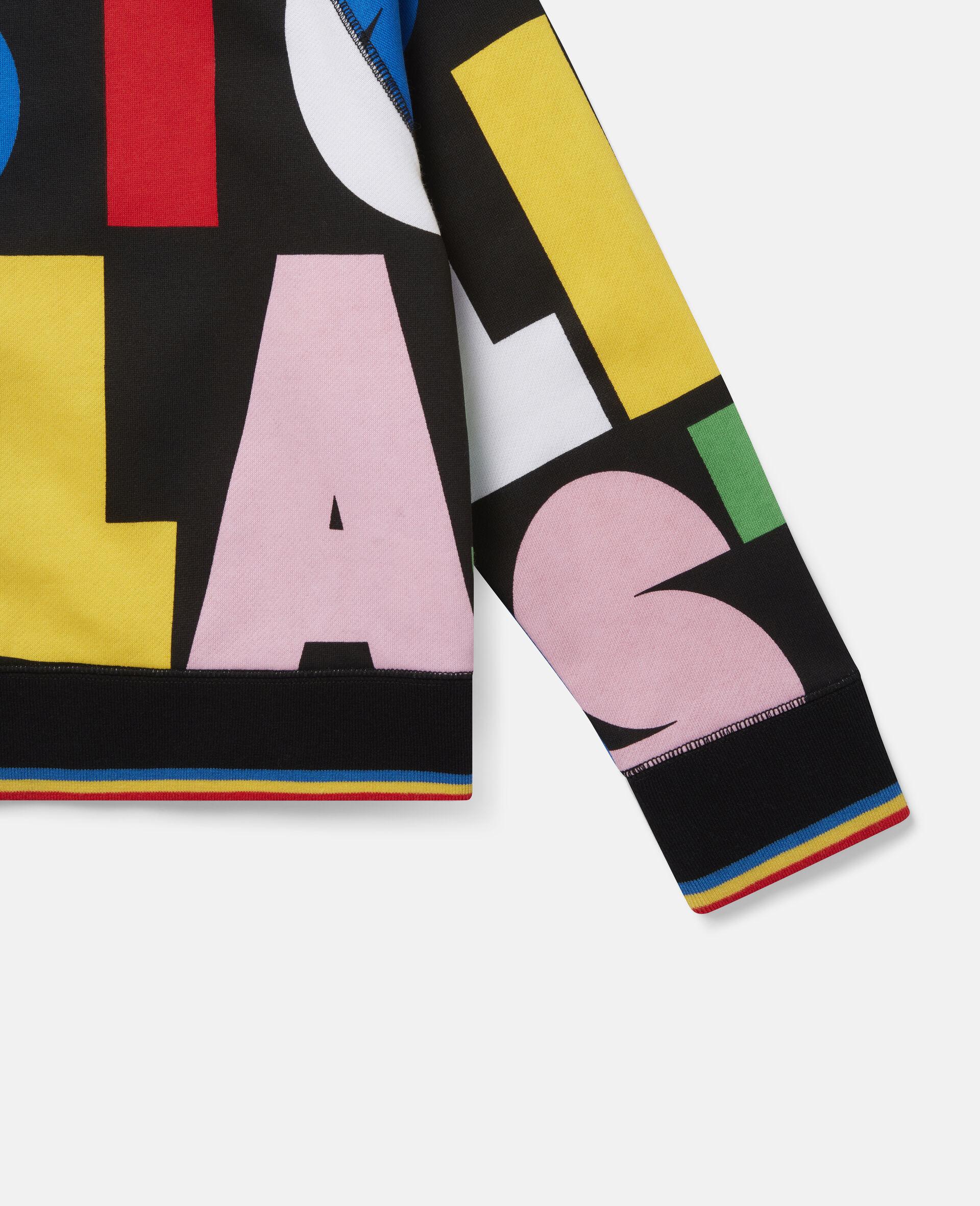 Stella Oversize Fleece Sweatshirt -Multicolour-large image number 2