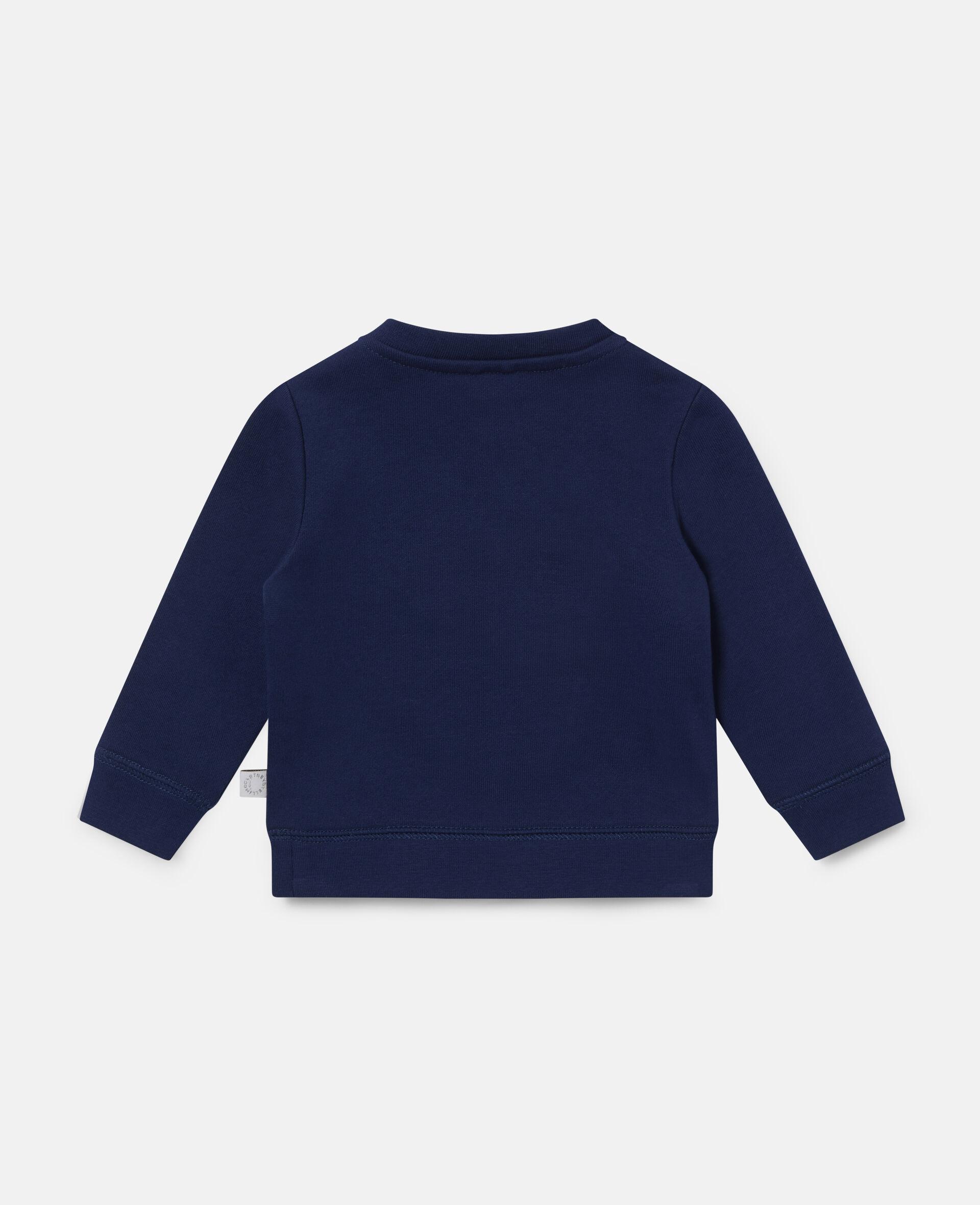 Sweat-shirt en polaire imprimé chiens motards-Bleu-large image number 3