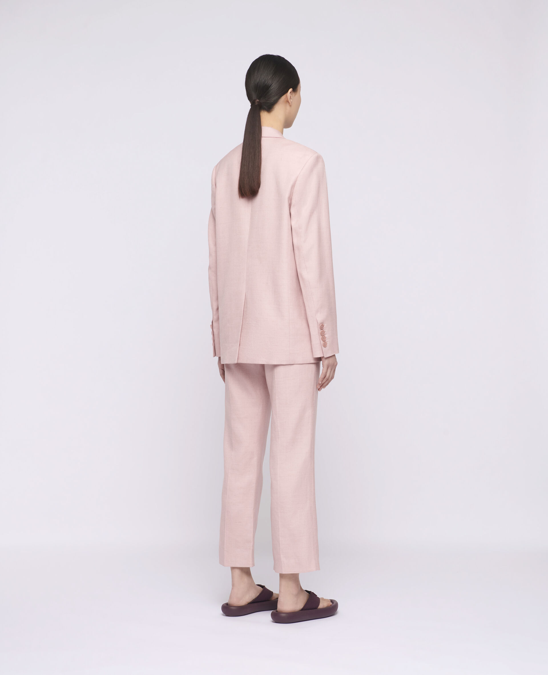 Carlie Tailored Trousers-Pink-large image number 2