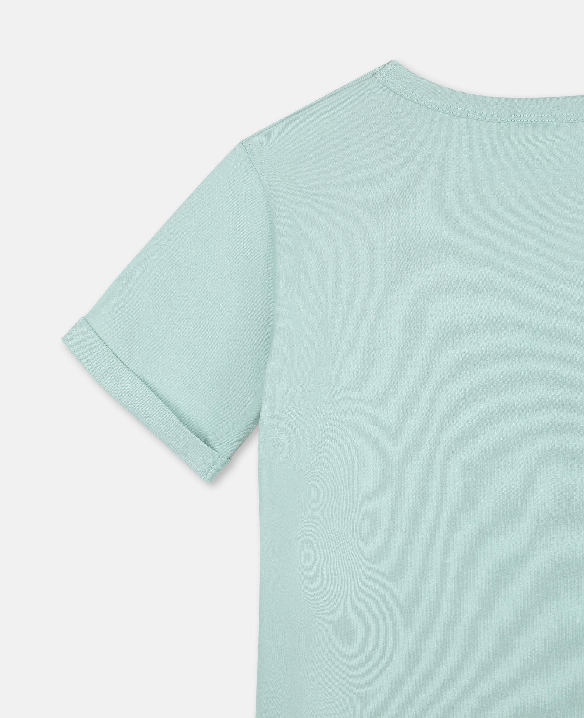 Baumwoll-T-Shirt mit Schmetterling-Print-Grün-large image number 2