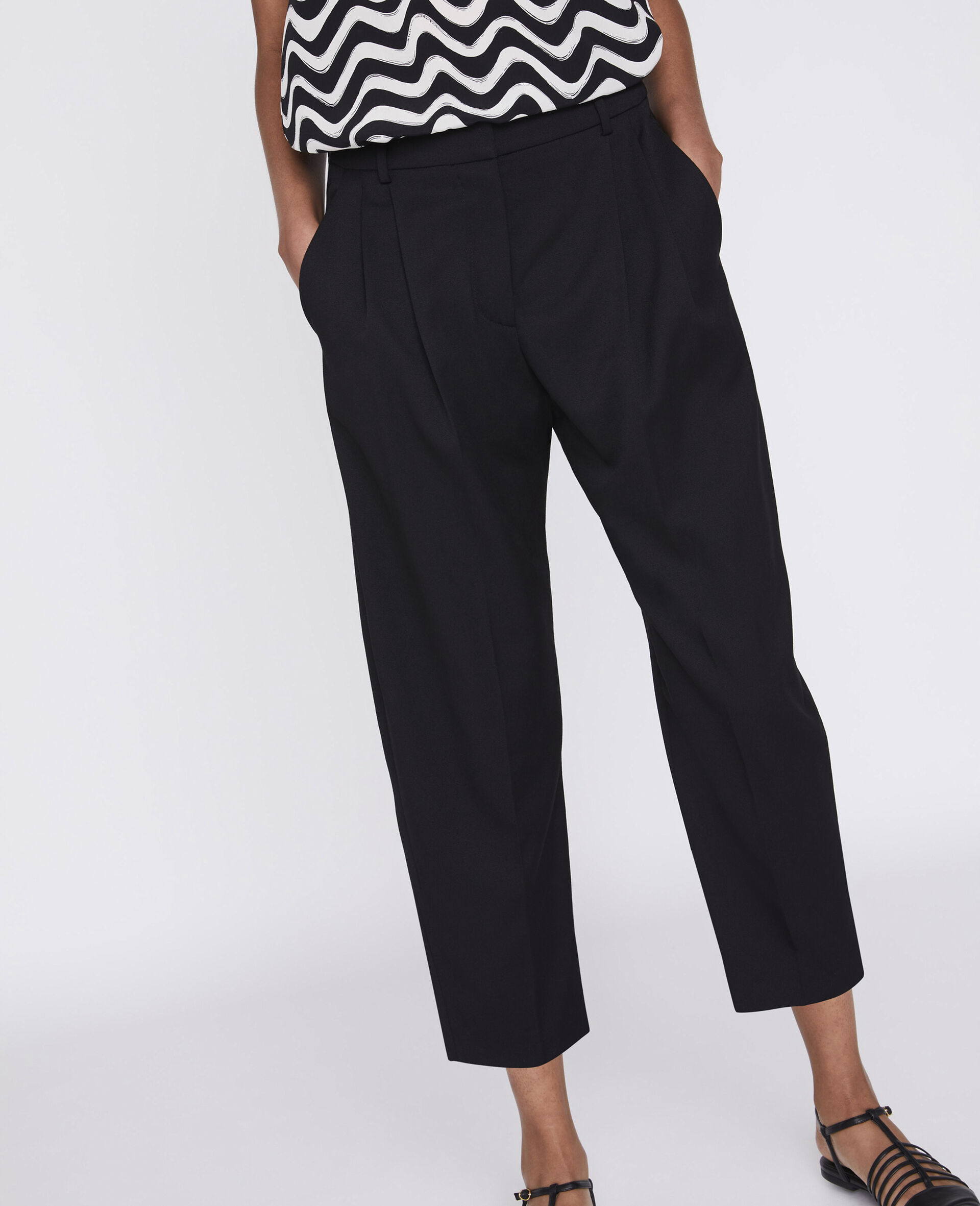 Dawson Tailored Trousers-Black-large image number 3