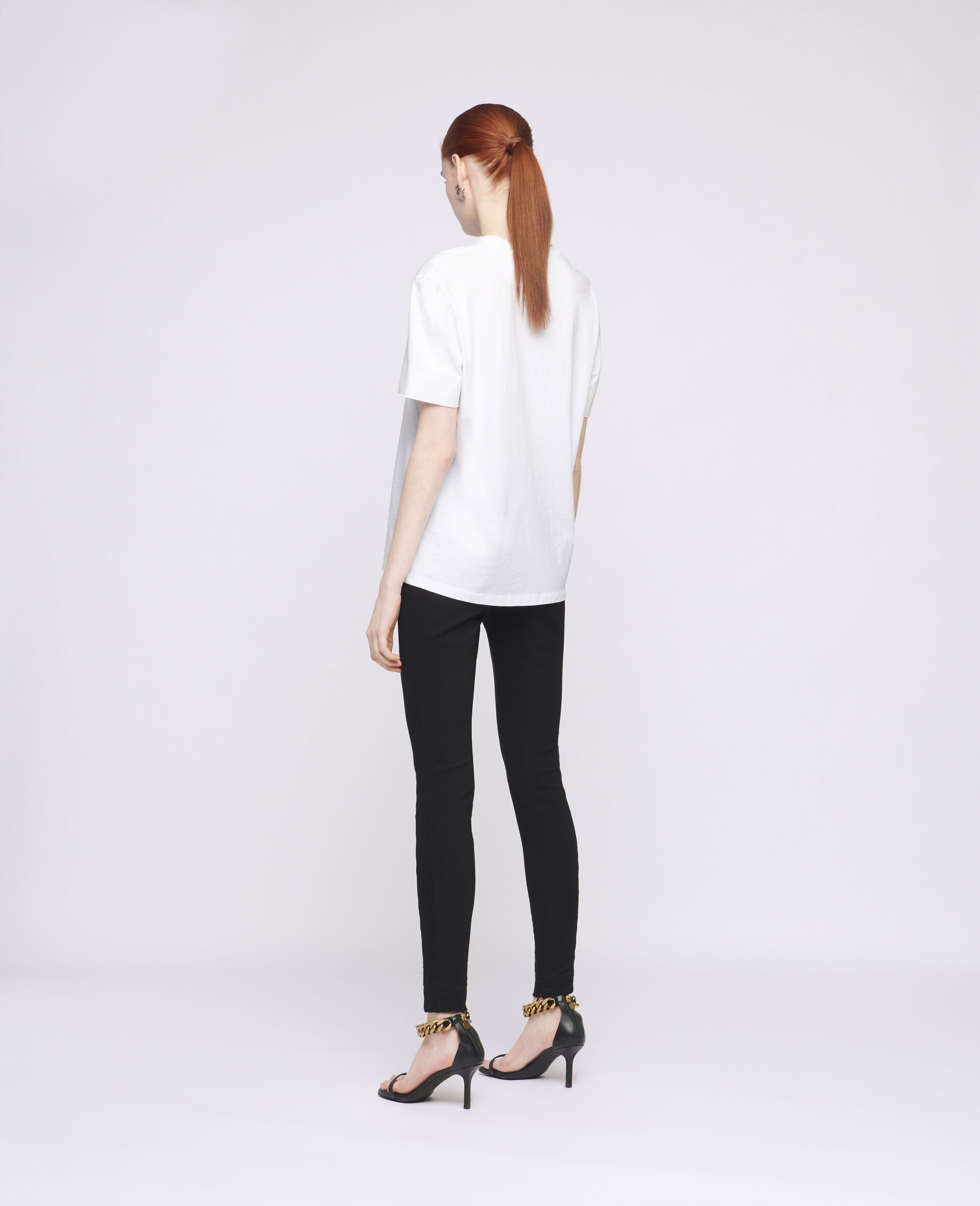 T-shirt en coton à logo-Blanc-large image number 2