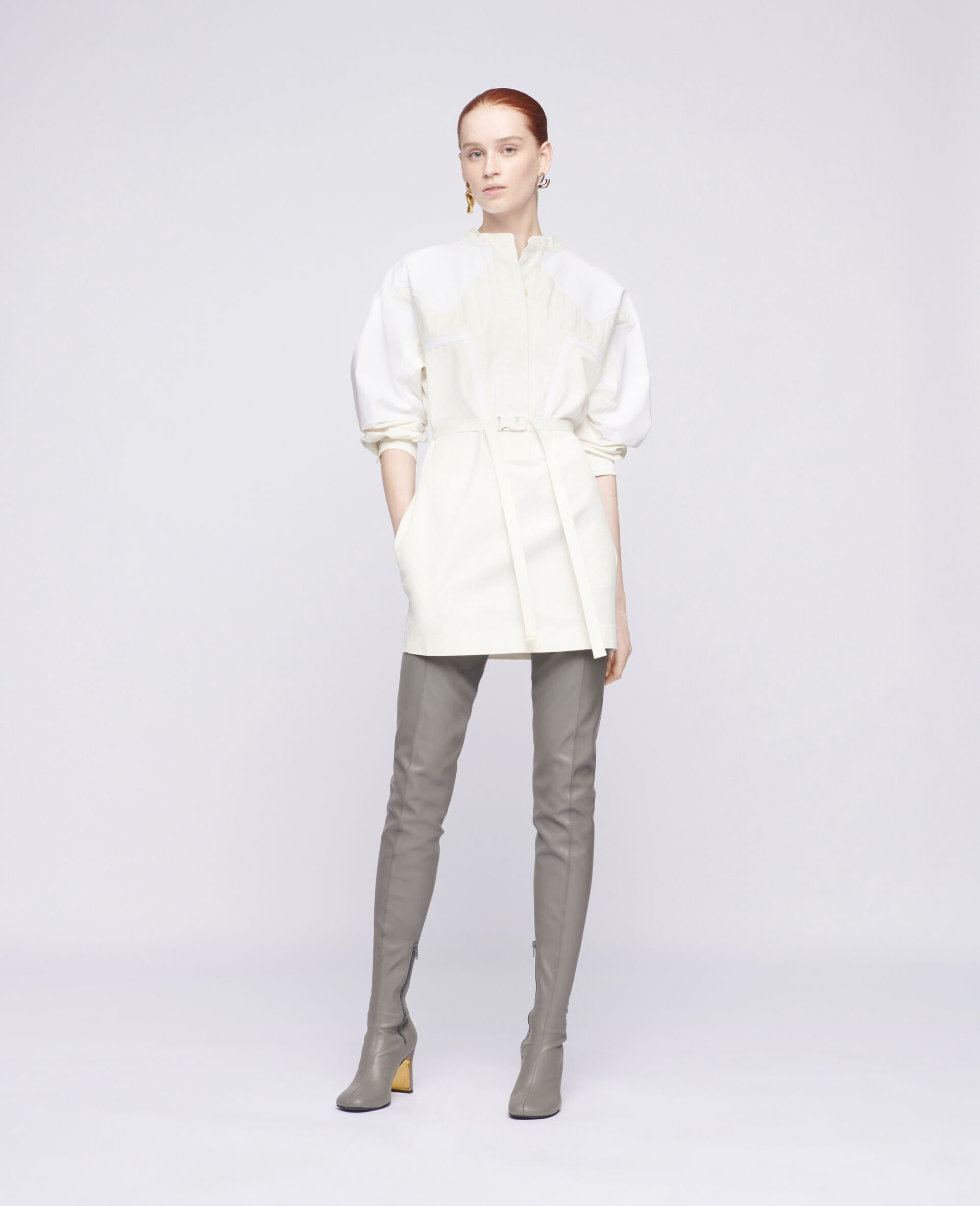 Liana Mini Dress-White-large image number 1