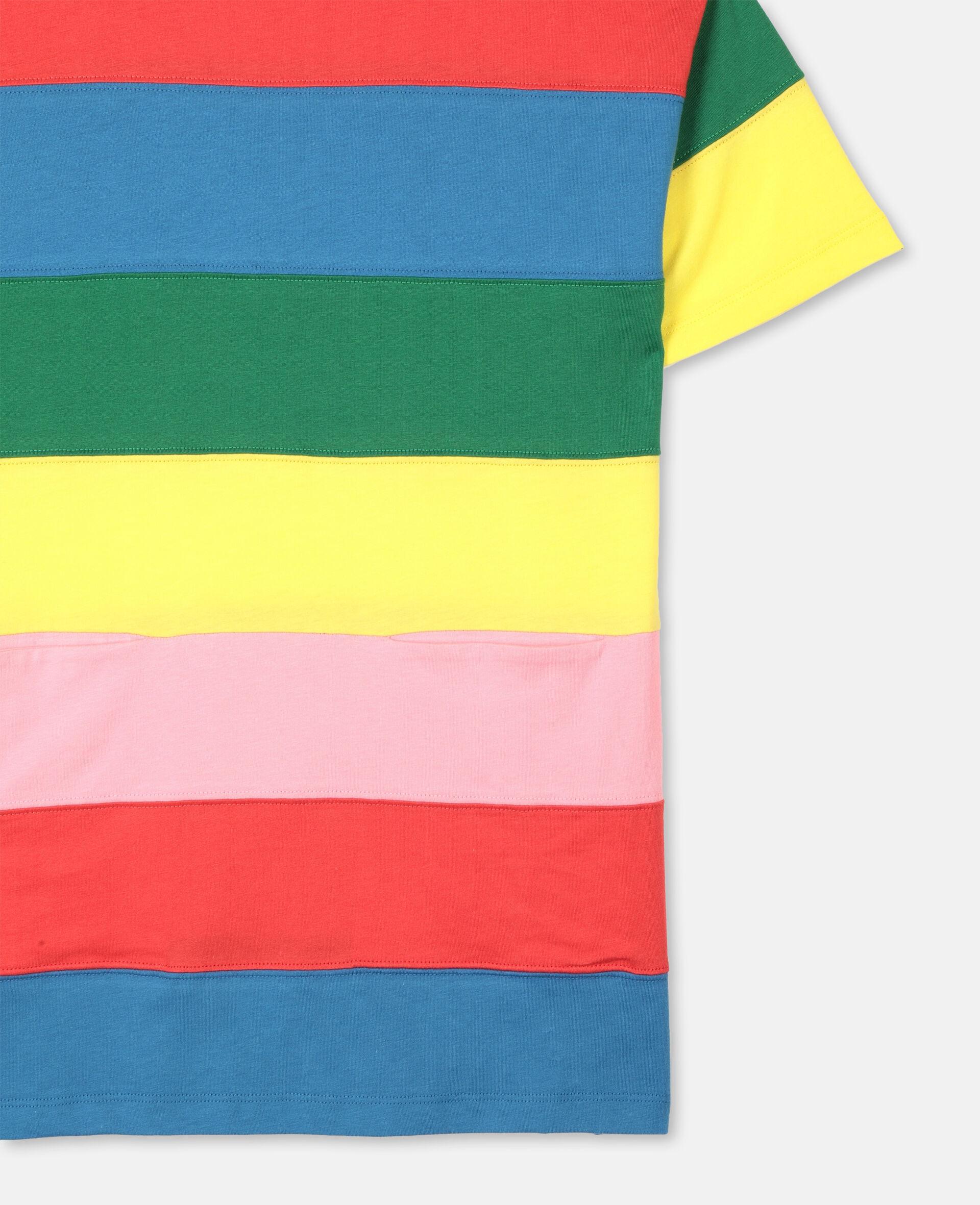 条纹棉质连衣裙 -Multicolored-large image number 1