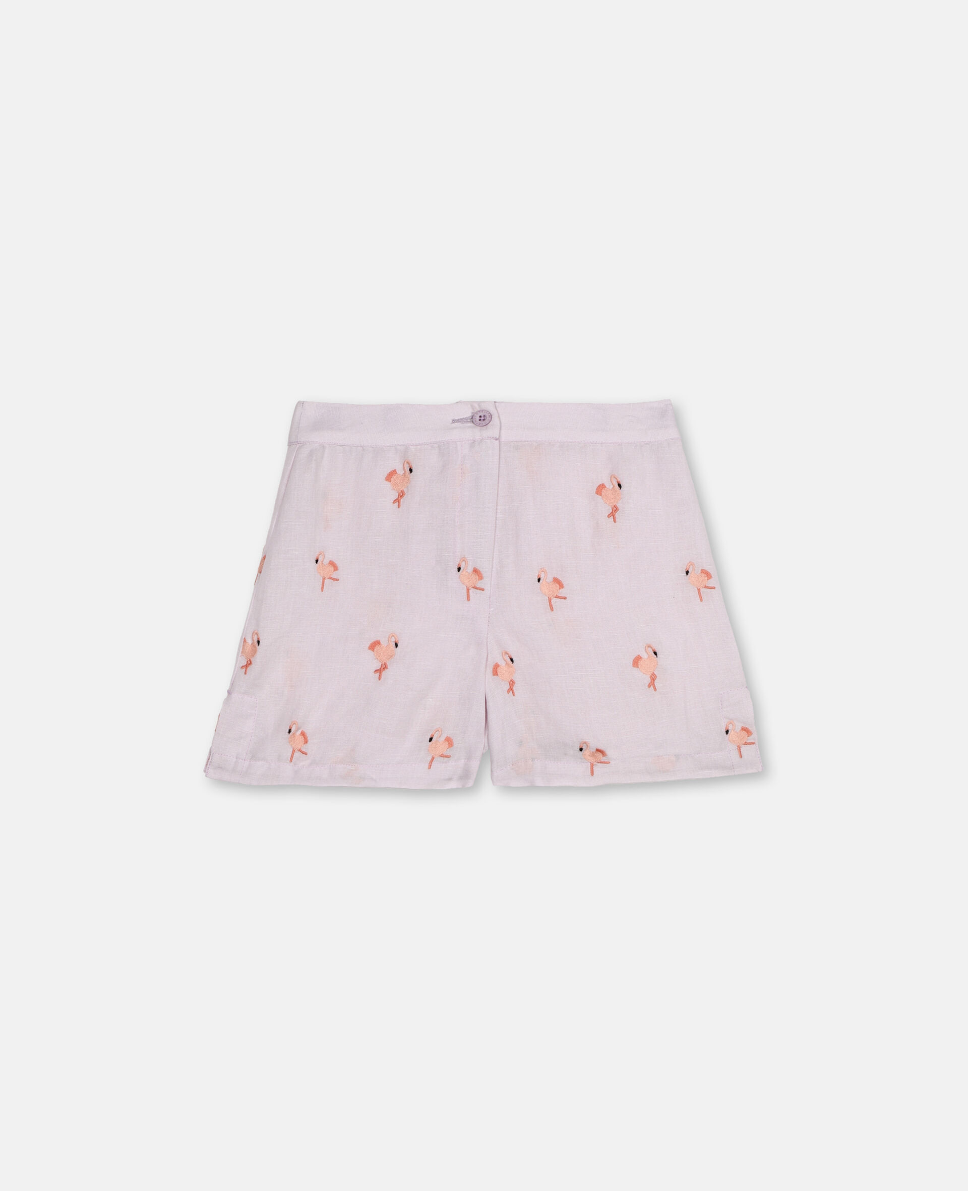 Flamingo刺绣短裤 -粉色-large image number 0