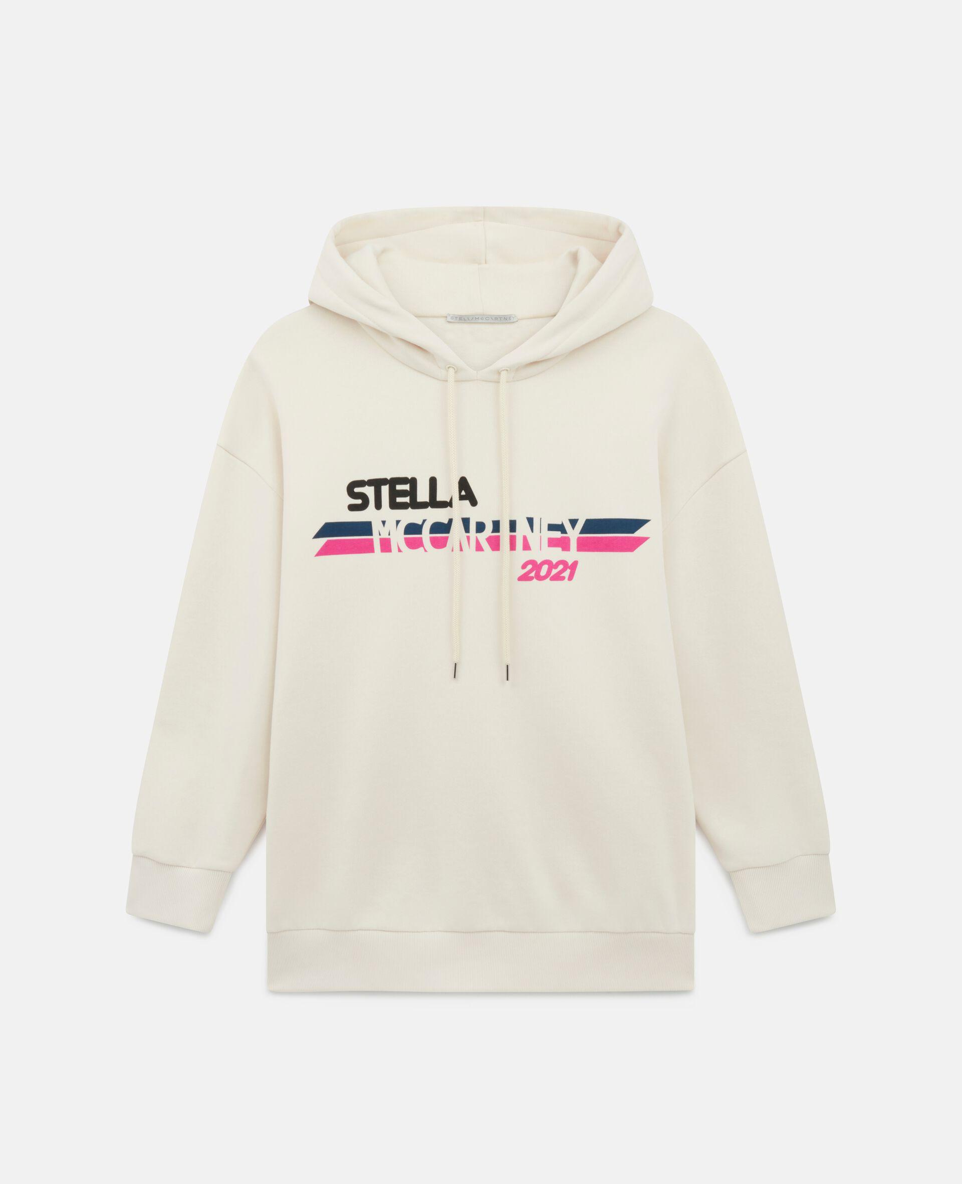 Stella McCartney 2021 Kapuzenpullover mit Logo-Weiß-large image number 0