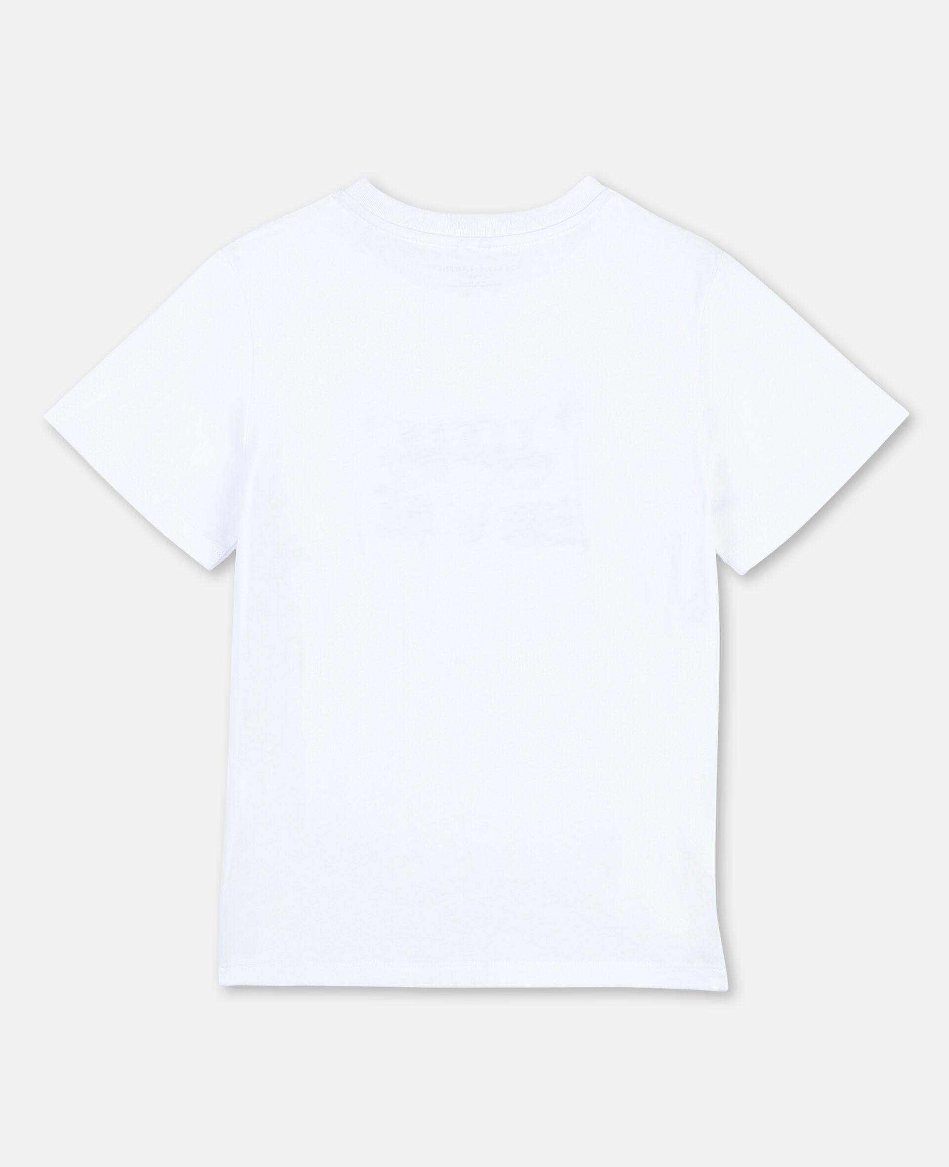"Baumwoll-T-Shirt mit ""Funny-Tiger""-Print -Weiß-large image number 3"