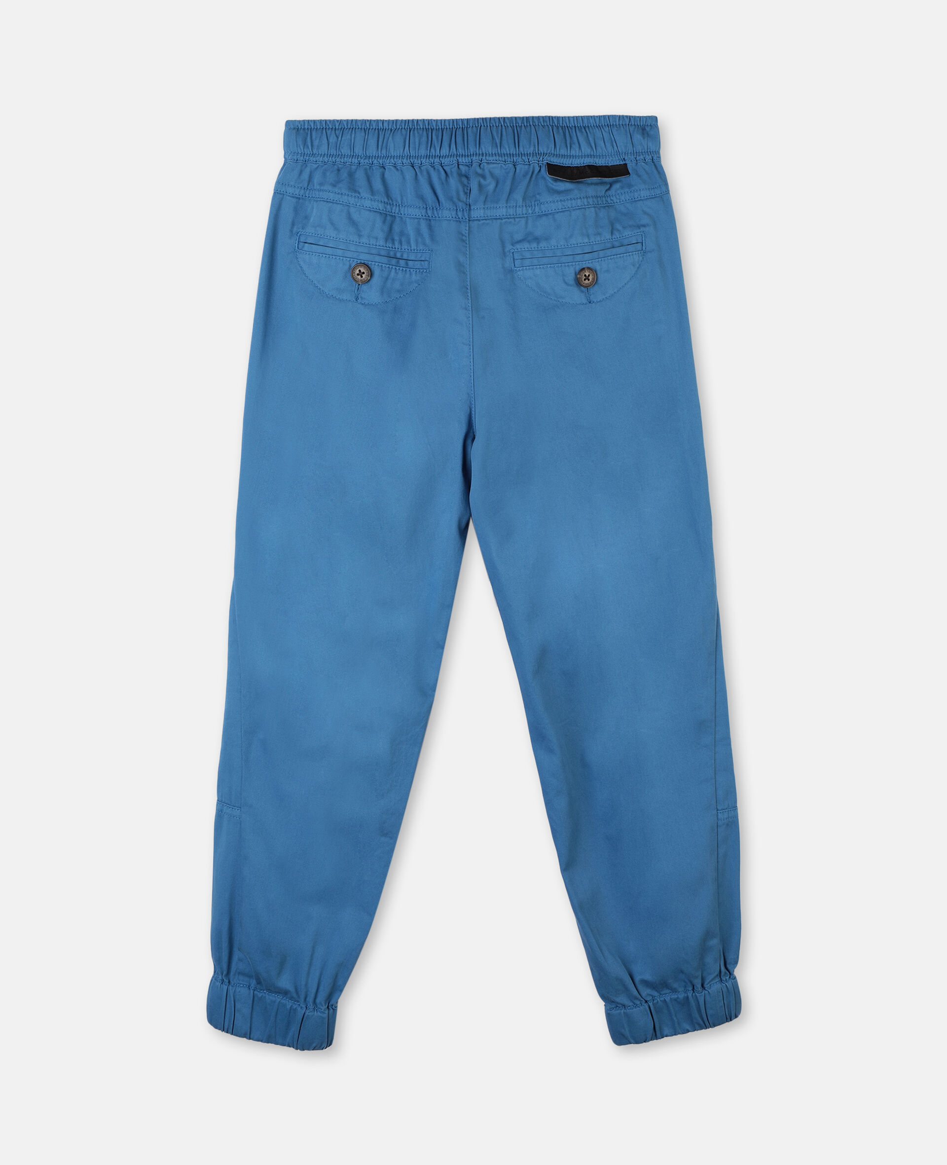 Cotton Twill Cargo Trousers -Blue-large image number 3