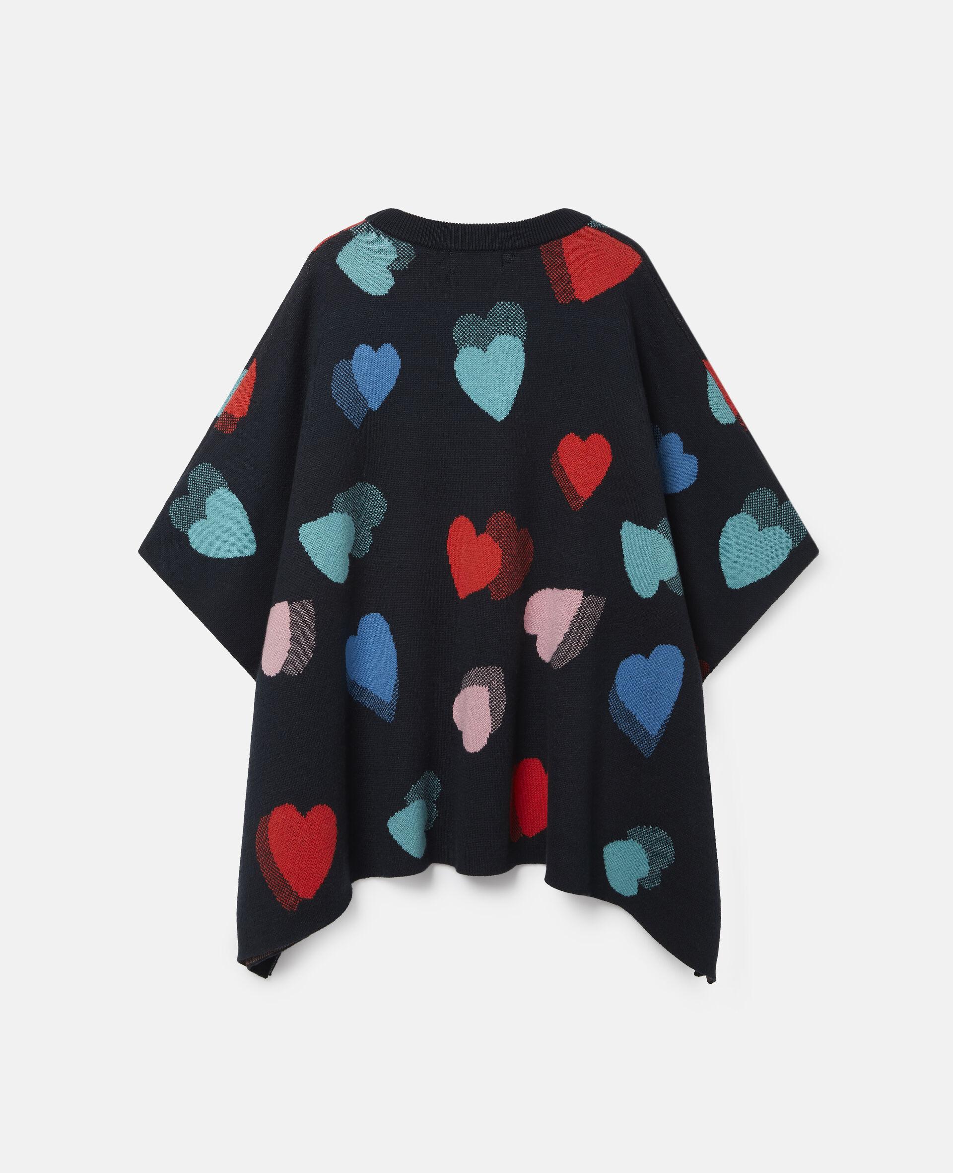 Hearts Knit Cape-Multicolour-large image number 3