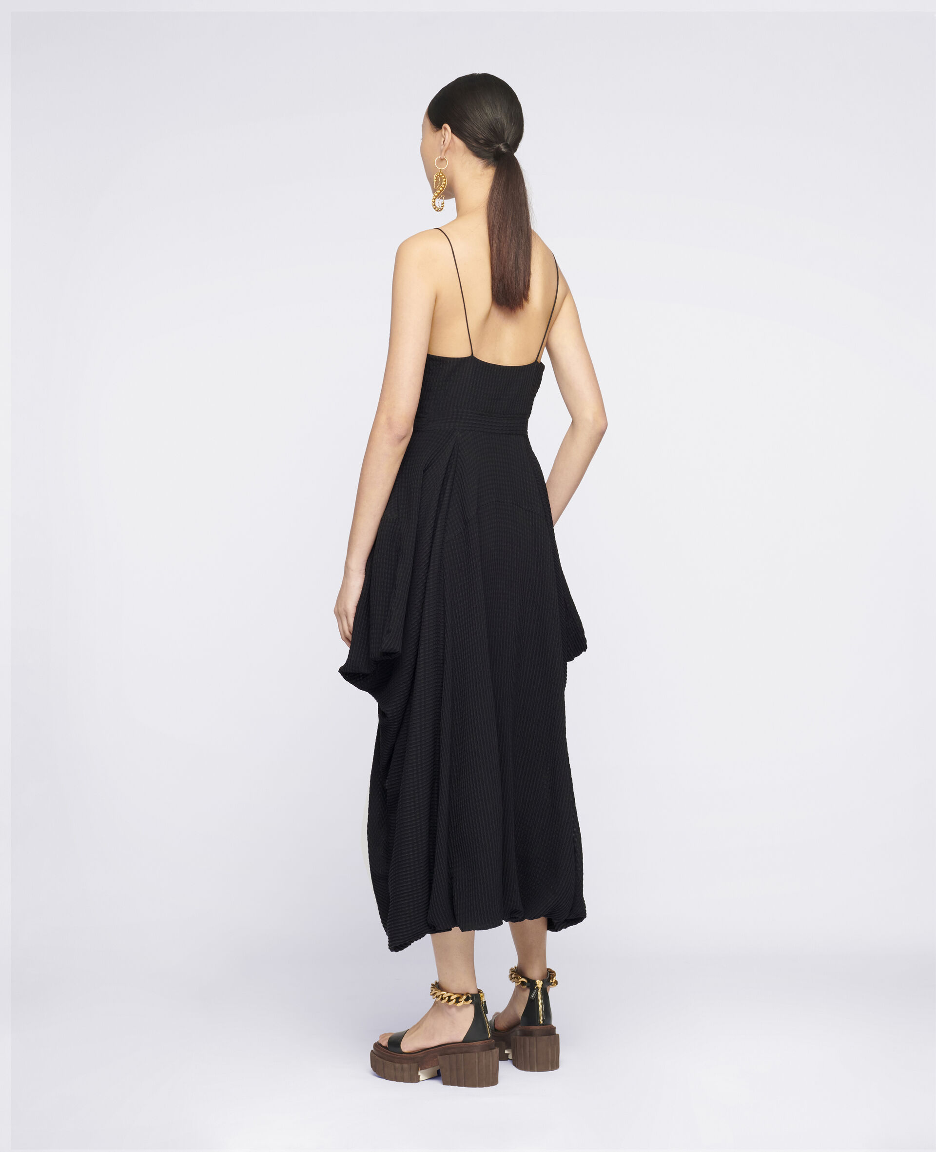 Jenna Silk Dress-Black-large image number 2