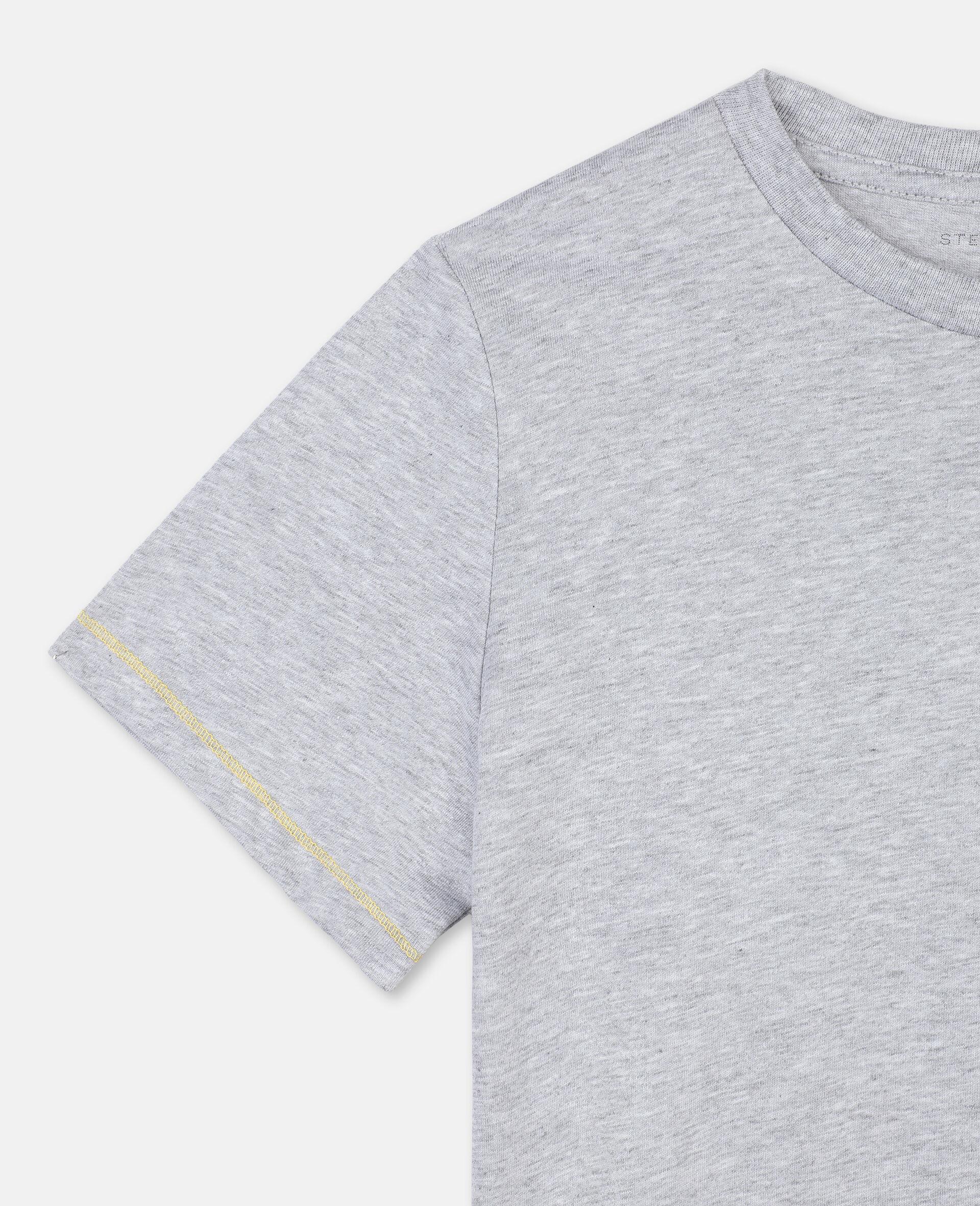 T-Shirt in Cotone con Ghepardo-Grigio-large image number 2