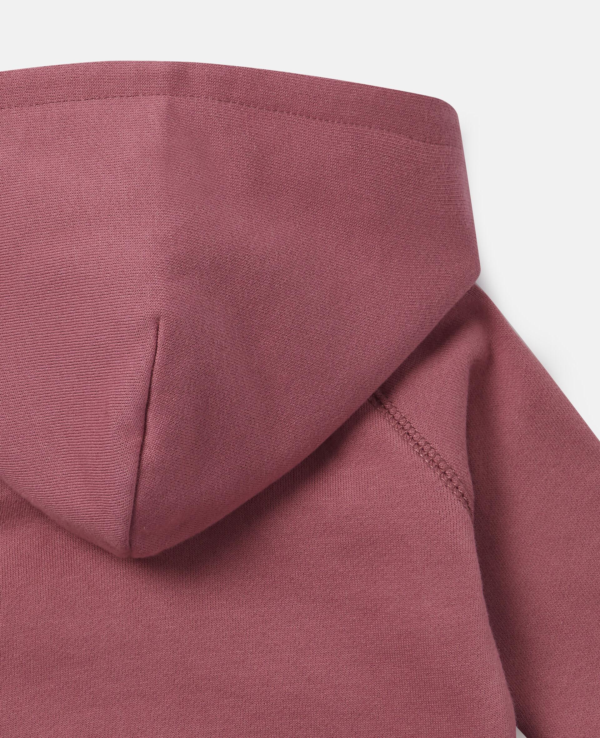 Sweat-shirt à capuche en polaire motifs jardin-Rouge-large image number 1