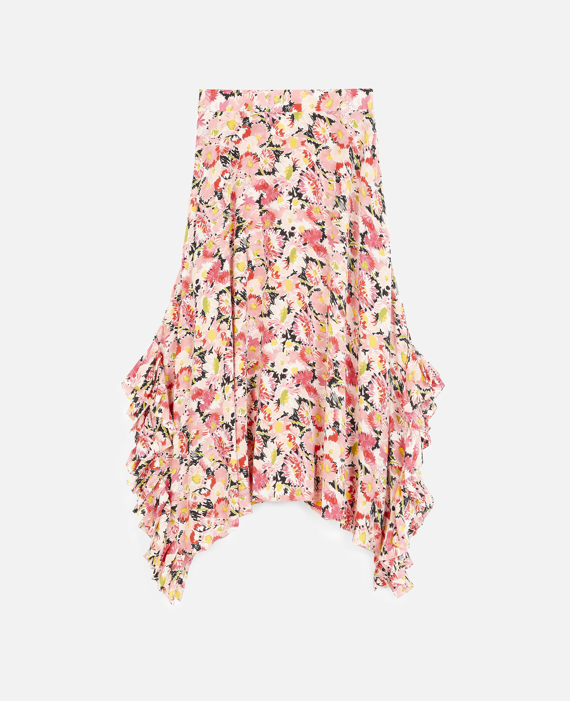 Ashlyn Silk Skirt-Multicoloured-large image number 0
