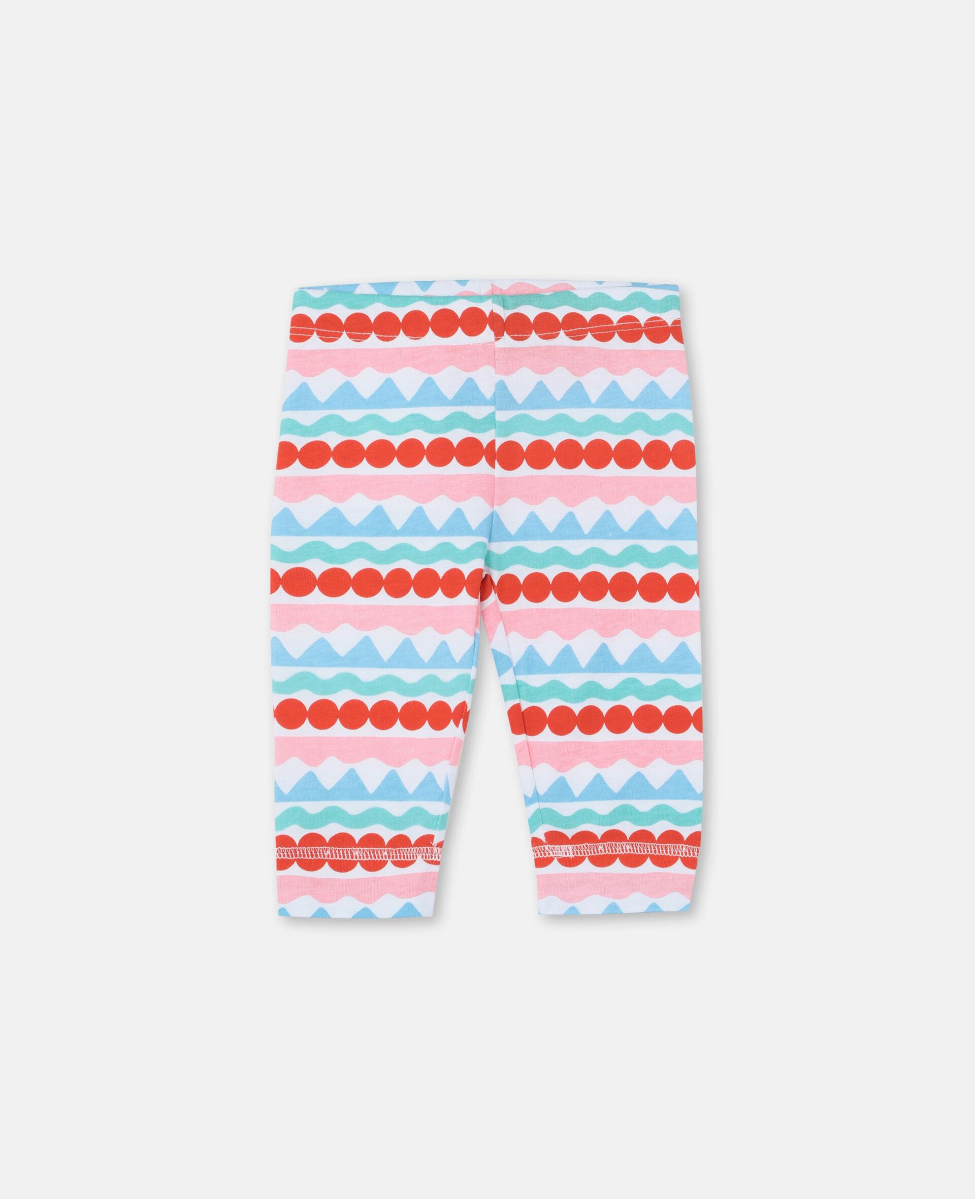 Graphic Striped Leggings-Multicolour-large image number 0